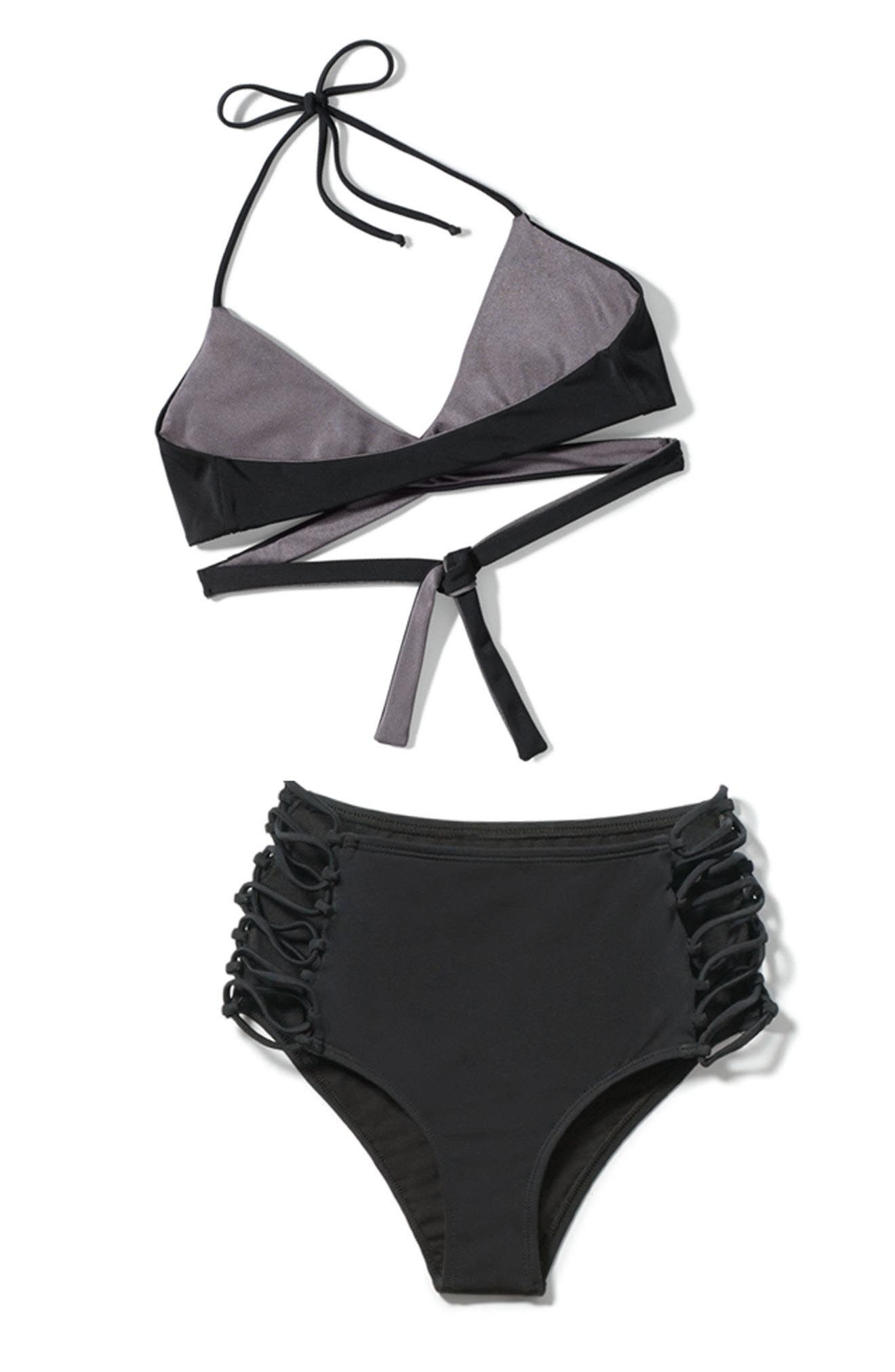 Reversible Wrap Bikini Top,                             Alternate thumbnail 7, color,