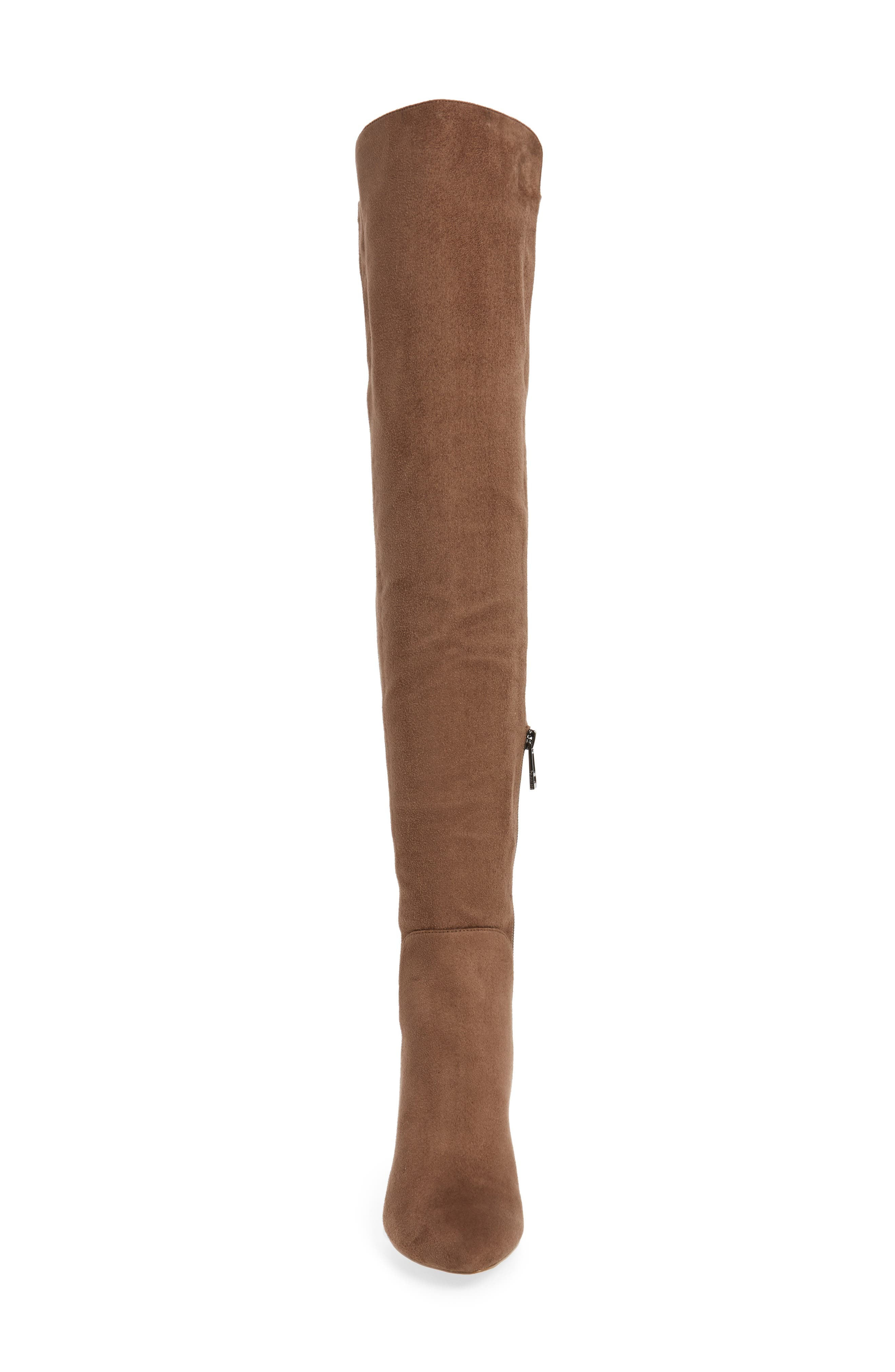 Perfect Over the Knee Boot,                             Alternate thumbnail 4, color,                             Dark Taupe Suede