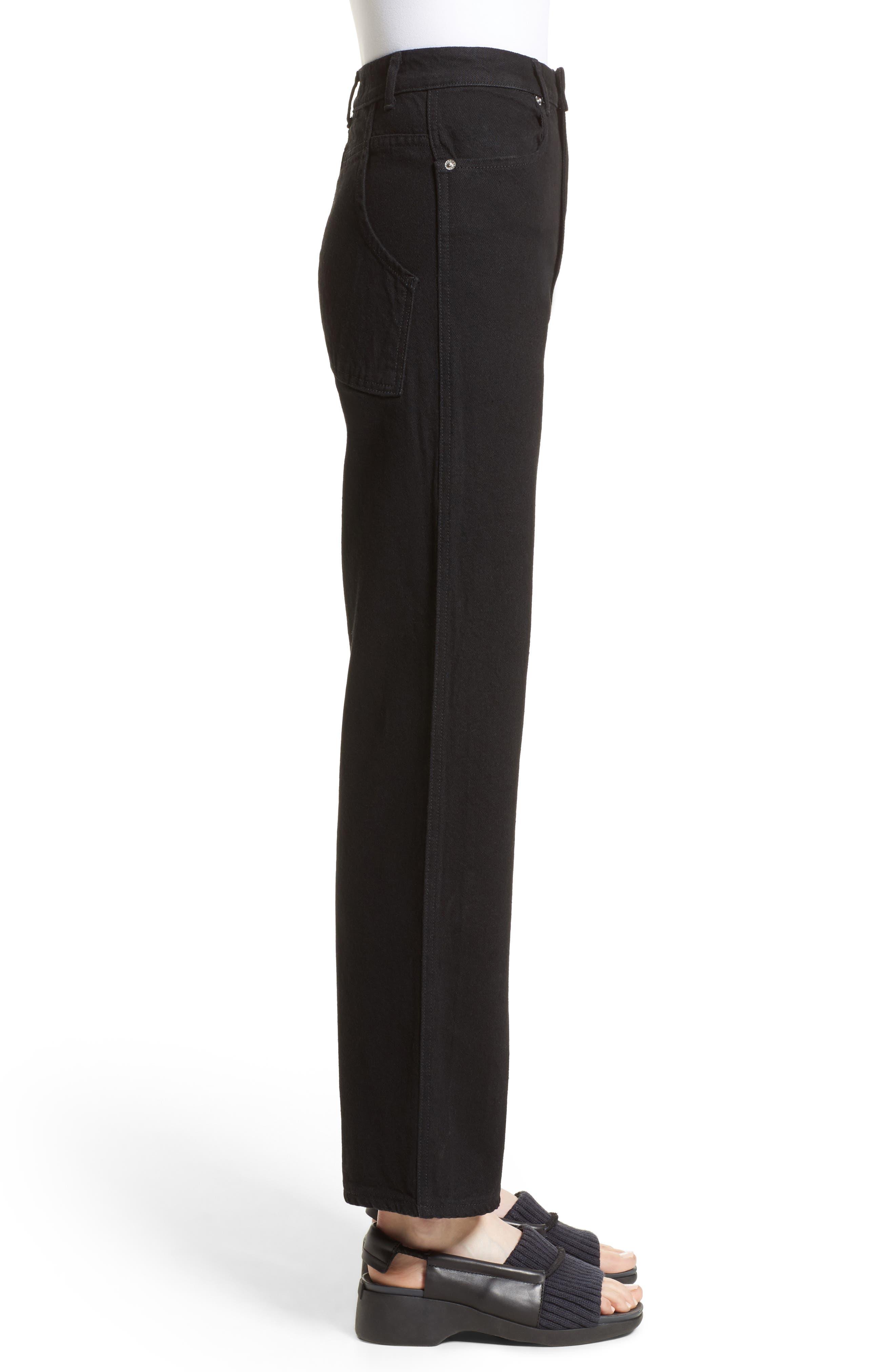 Alternate Image 5  - Eckhaus Latta EL Wide Leg Jeans (Almost Black)