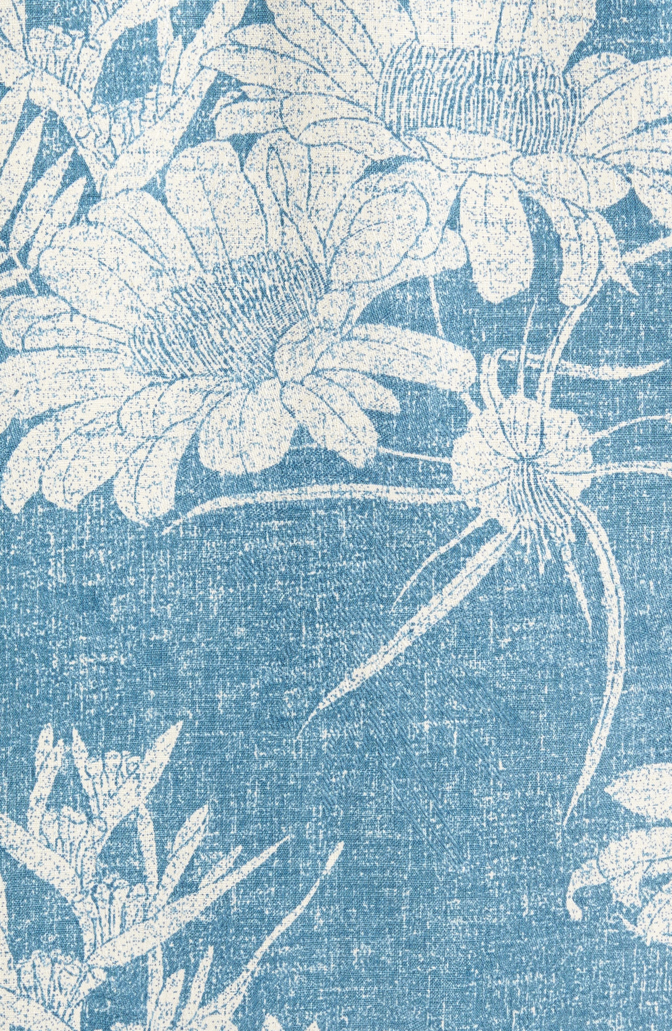 Alternate Image 5  - Tommy Bahama Sand Torini Blooms Standard Fit Silk Blend Camp Shirt