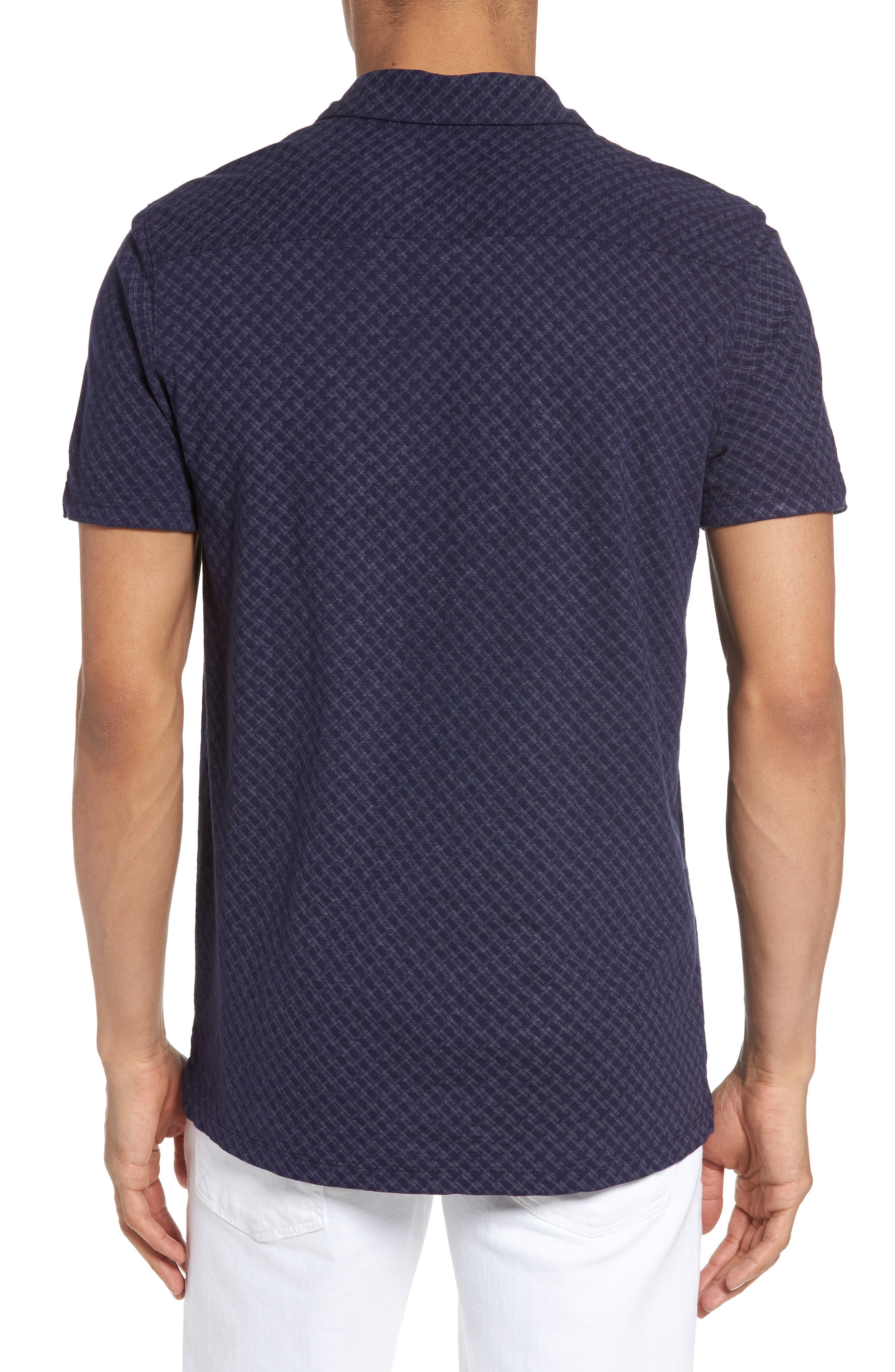 Mays Print Jersey Polo,                             Alternate thumbnail 2, color,                             Navy