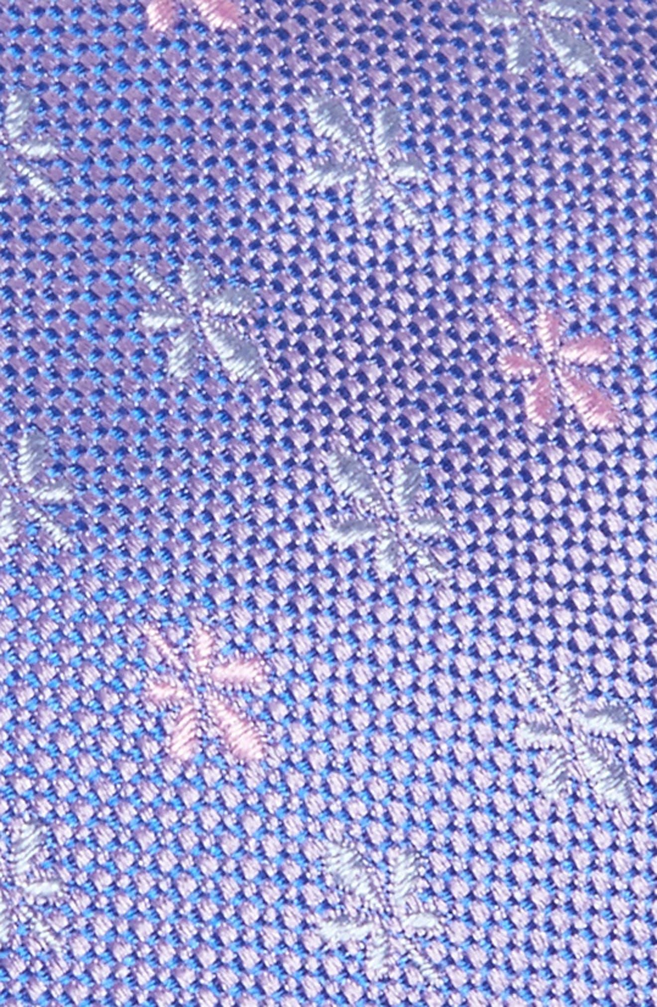 Floral Silk Tie,                             Alternate thumbnail 2, color,                             Light Pastel/ Purple
