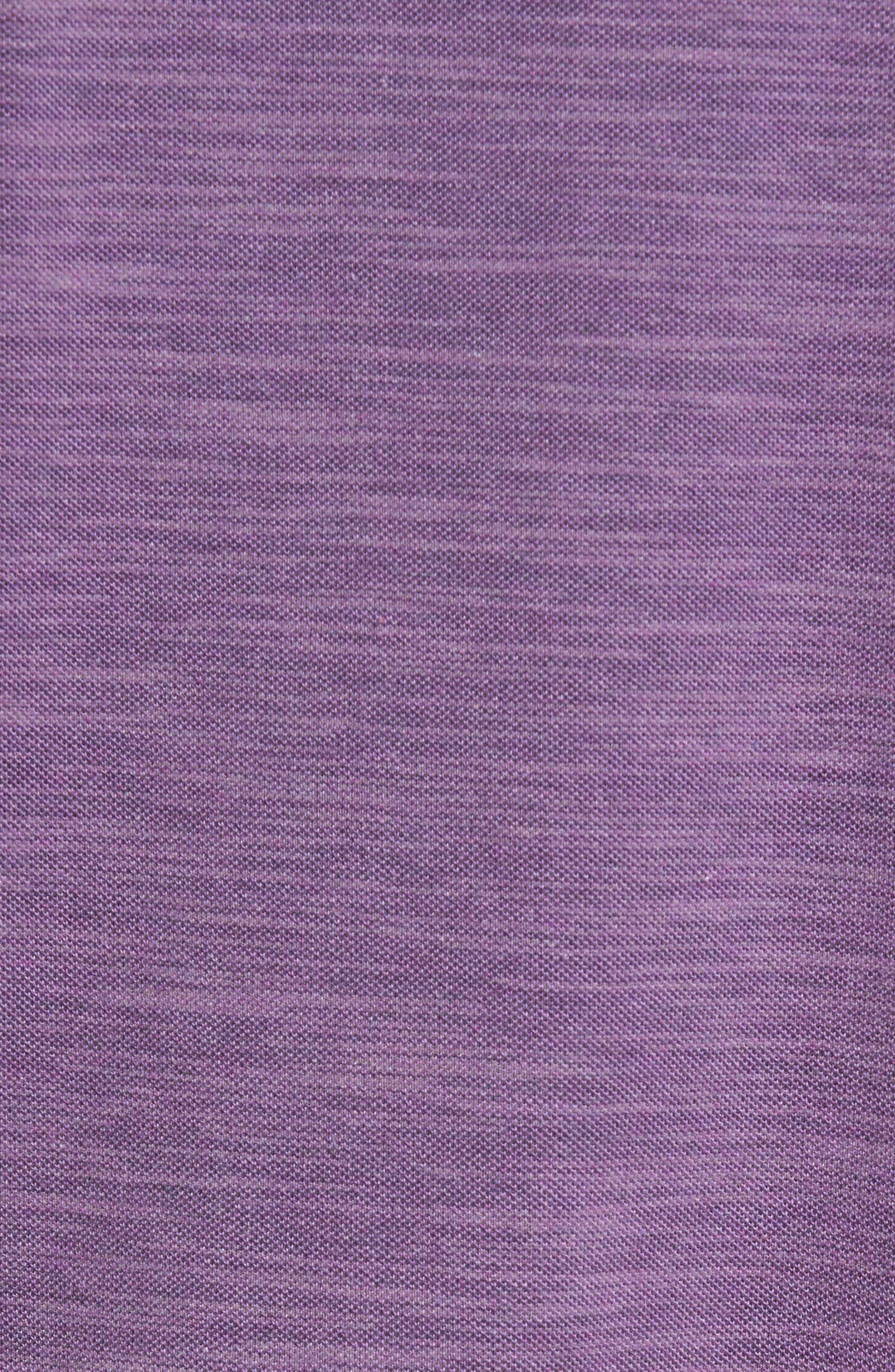 Paxton Space Dye Piqué T-Shirt,                             Alternate thumbnail 5, color,                             Purple