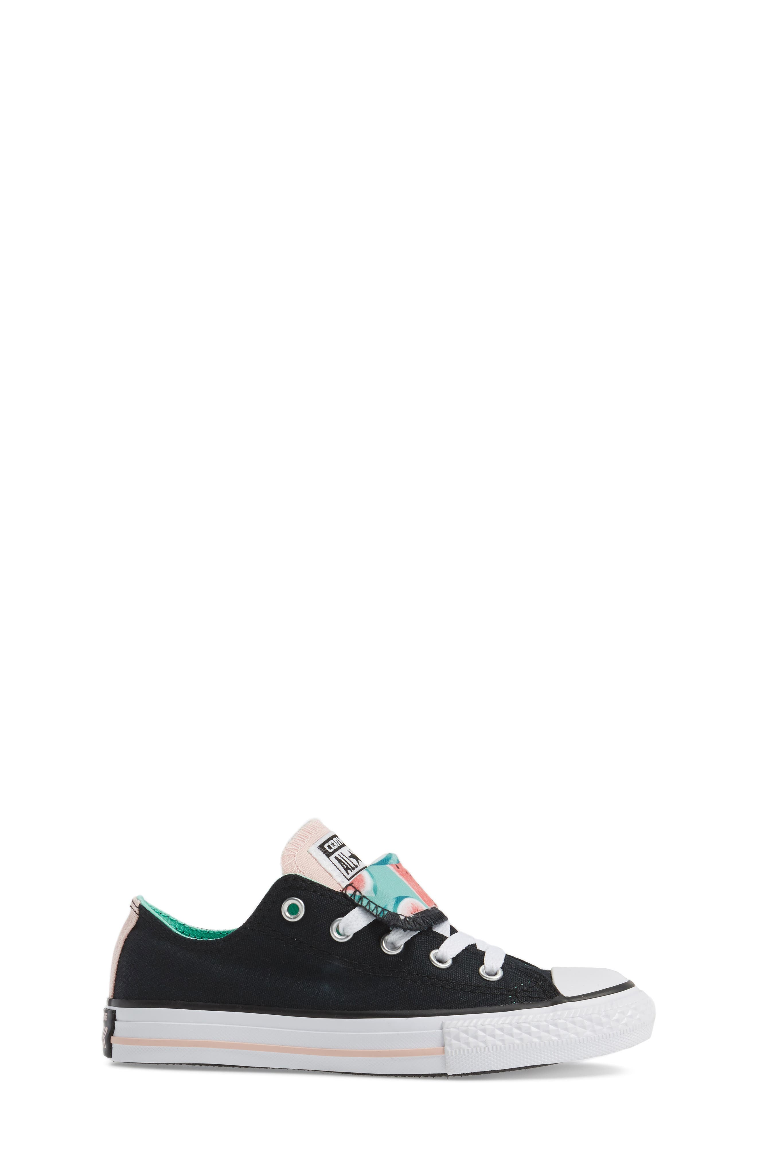 Chuck Taylor<sup>®</sup> All Star<sup>®</sup> Watermelon Print Sneaker,                             Alternate thumbnail 3, color,                             Black