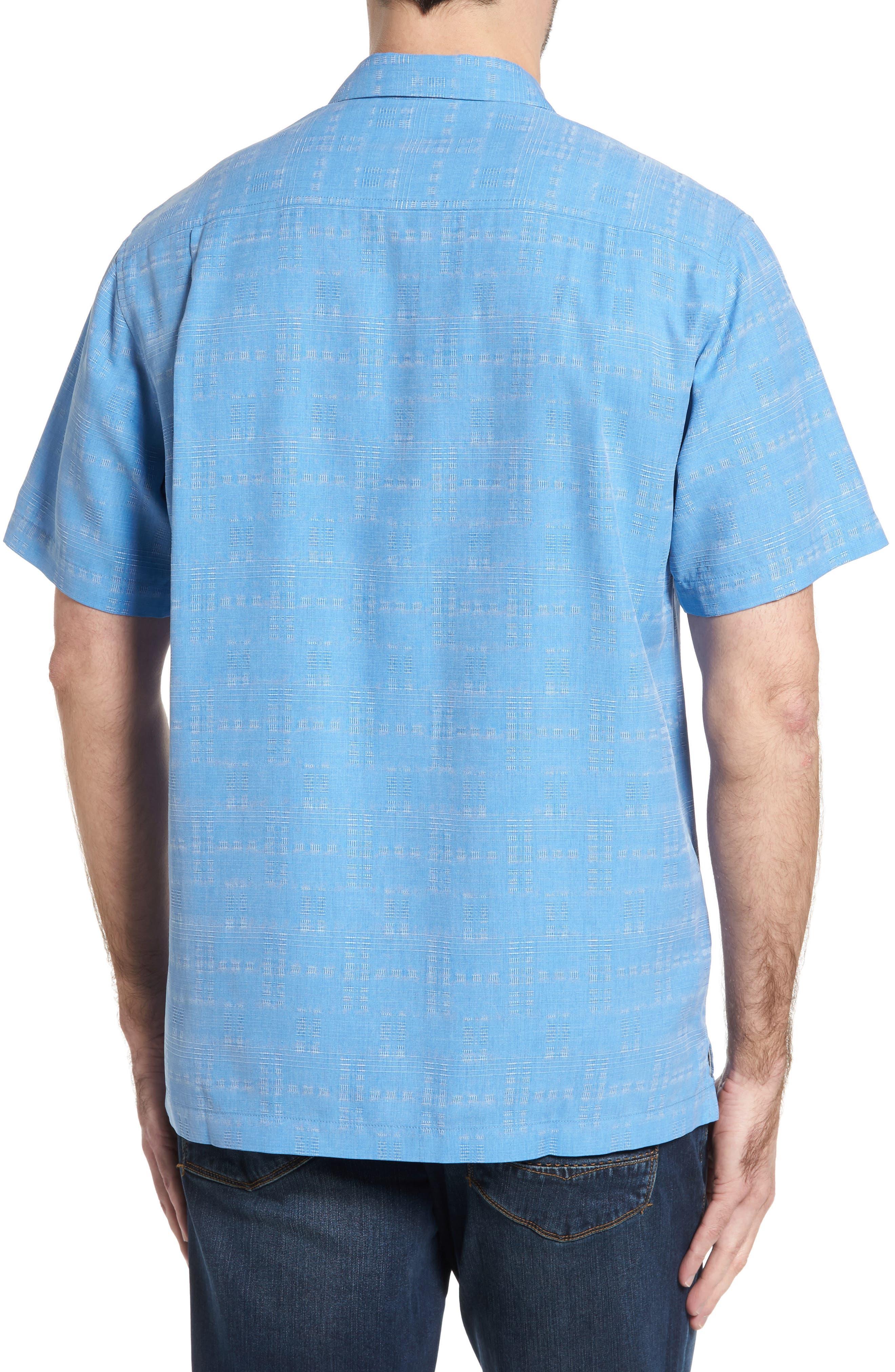 Alternate Image 2  - Tommy Bahama Original Fit Jacquard Silk Camp Shirt