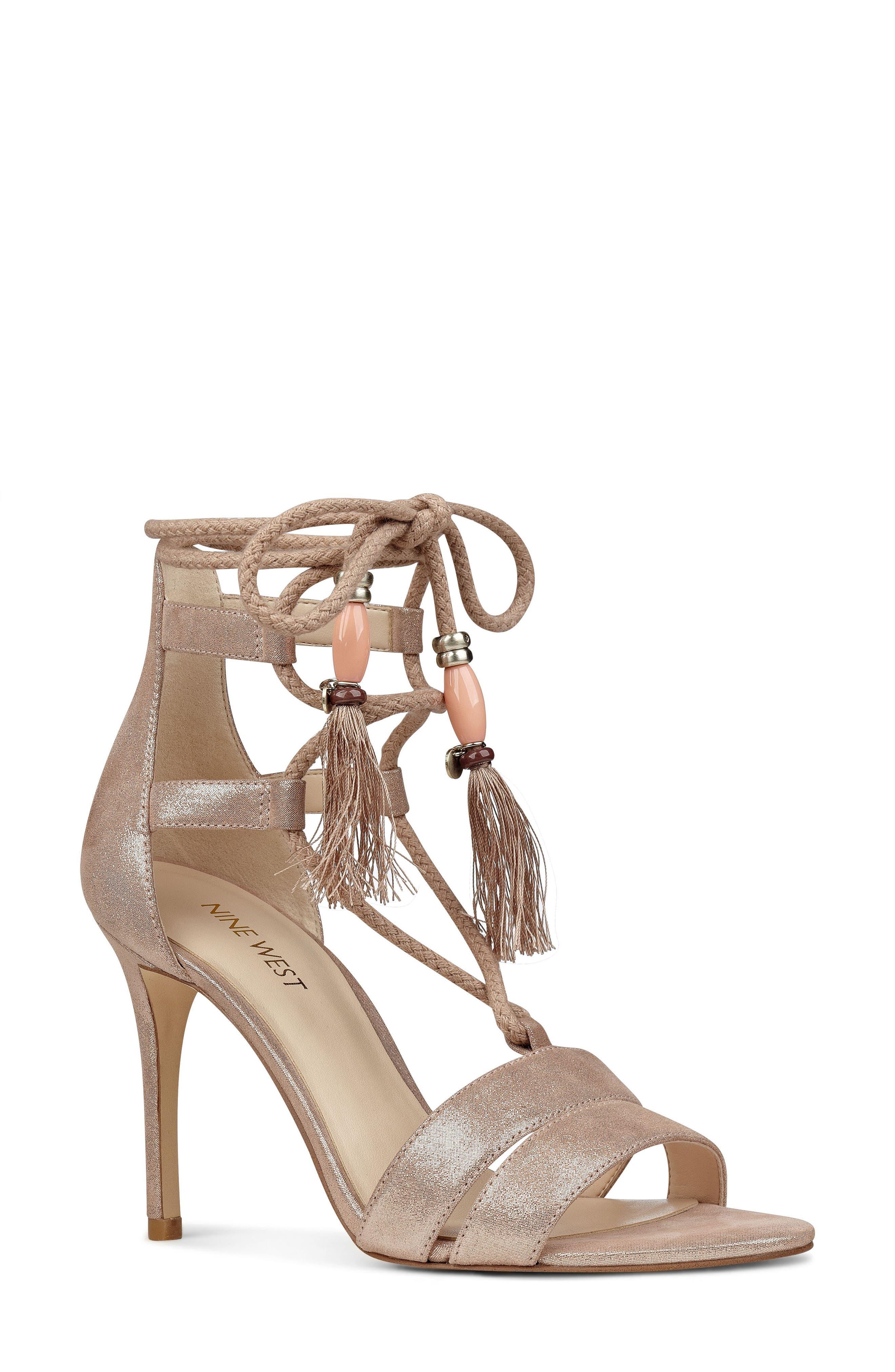 Nine West Mangalara Lace-Up Sandal (Women)