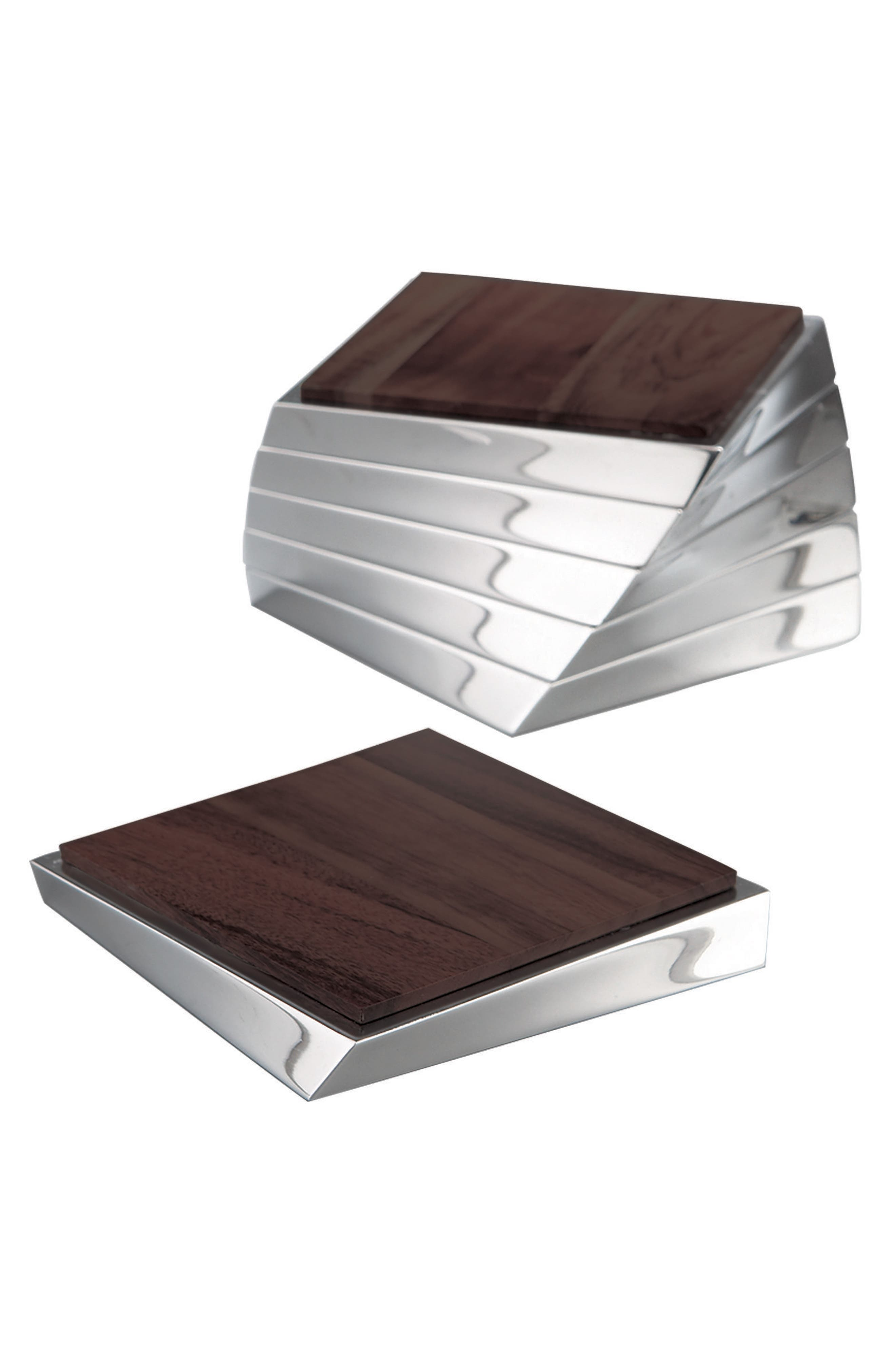 Nambé Set of 6 Twist Coasters