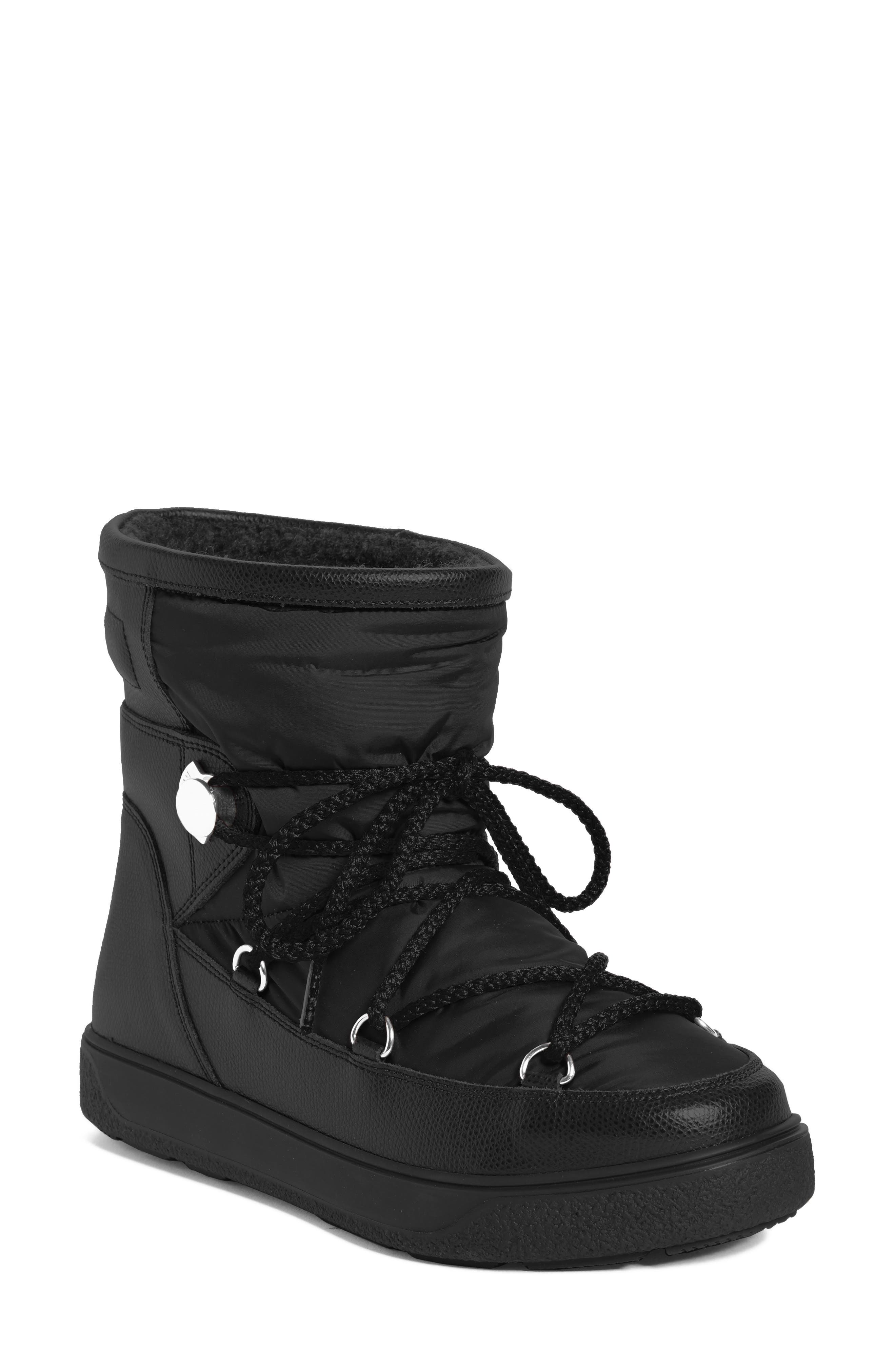 New Fanny Stivale Short Moon Boots,                             Main thumbnail 1, color,                             Black