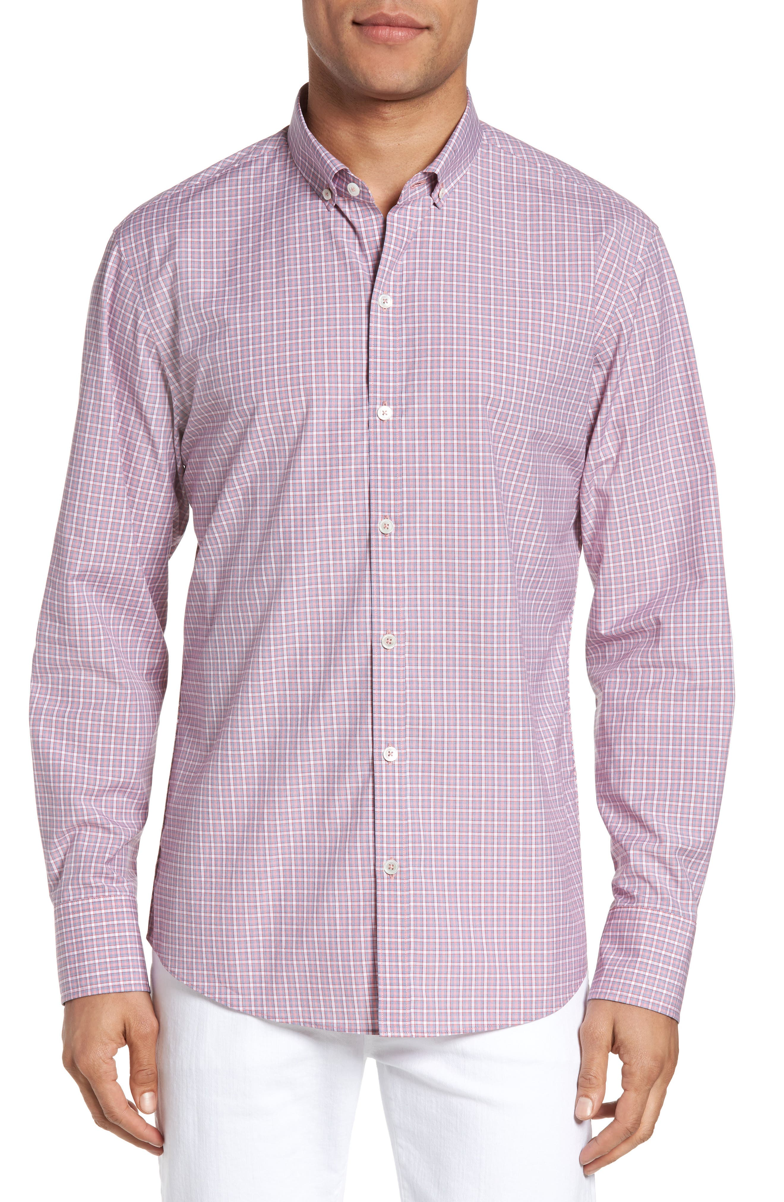Alternate Image 1 Selected - Zachary Prell Balestier Trim Fit Plaid Sport Shirt