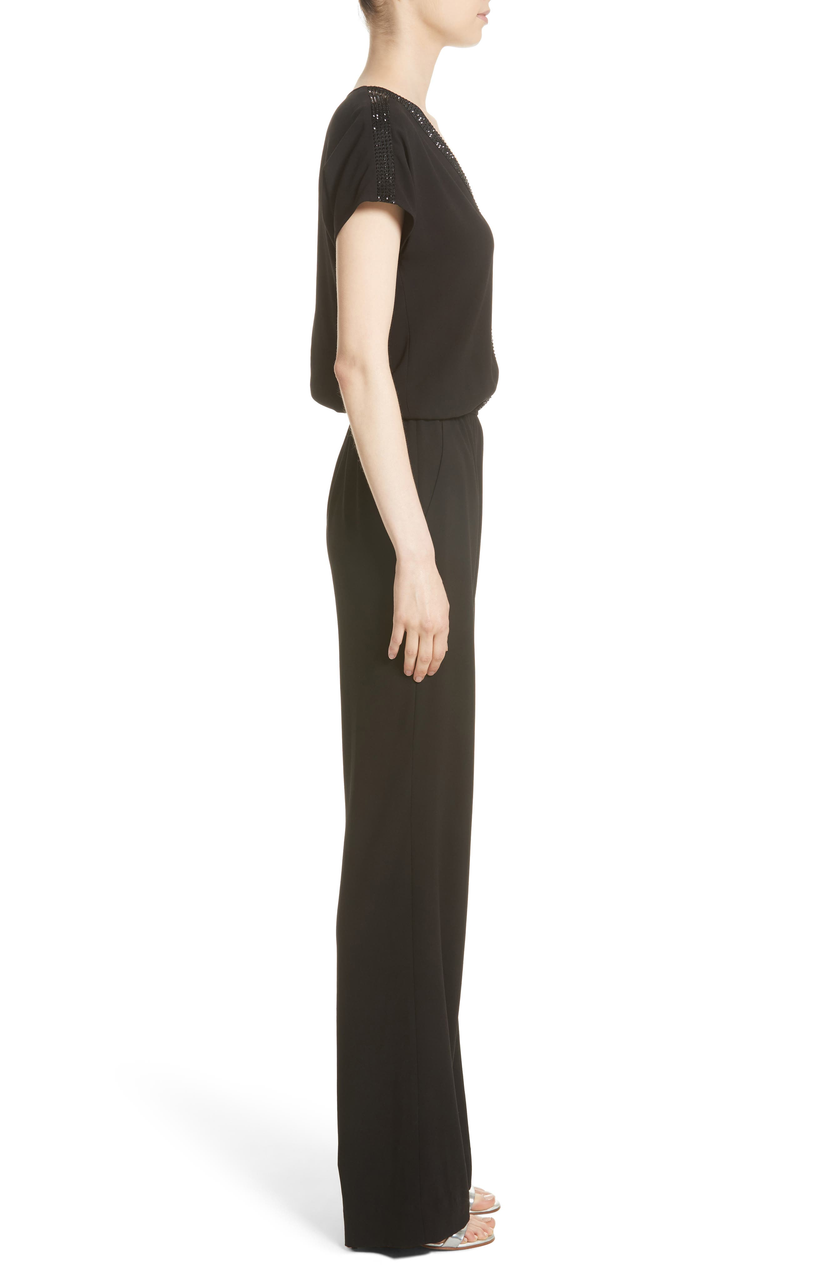 Alternate Image 3  - St. John Collection Satin Back Crepe Jumpsuit