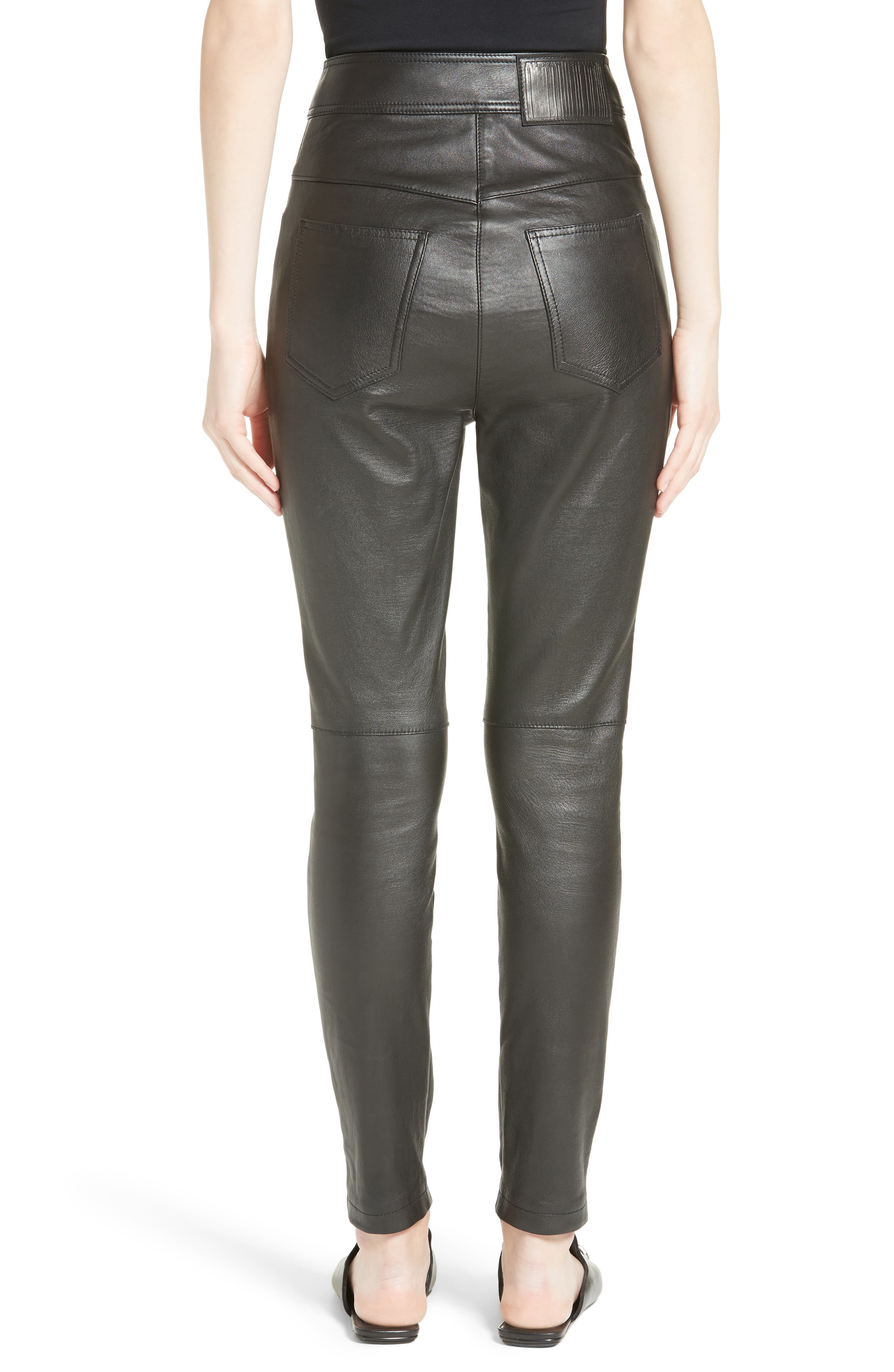 Alternate Image 2  - Alexander Wang High Waist Leather Pants
