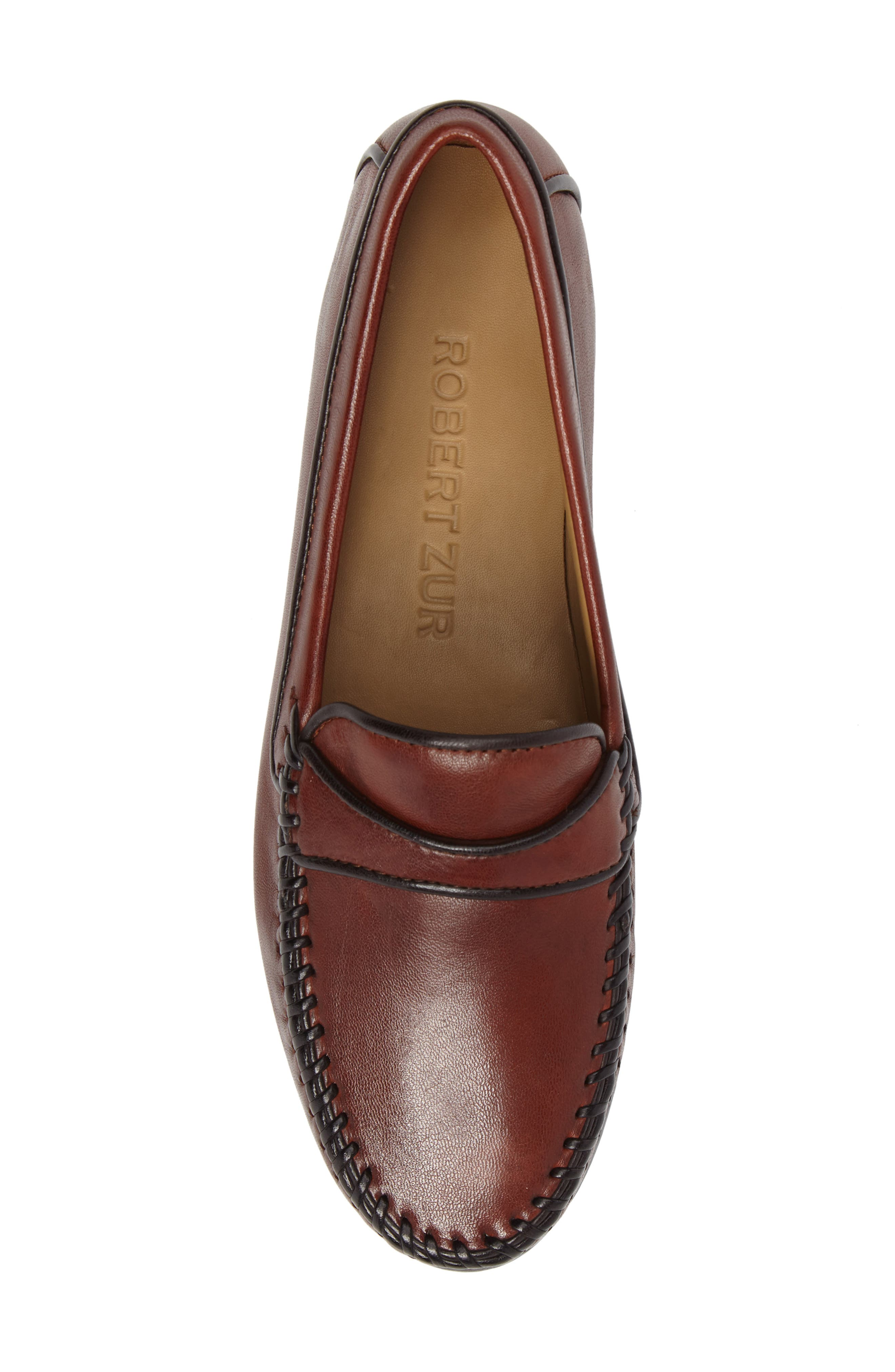 Aria Loafer,                             Alternate thumbnail 5, color,                             Vintage Luggage Leather