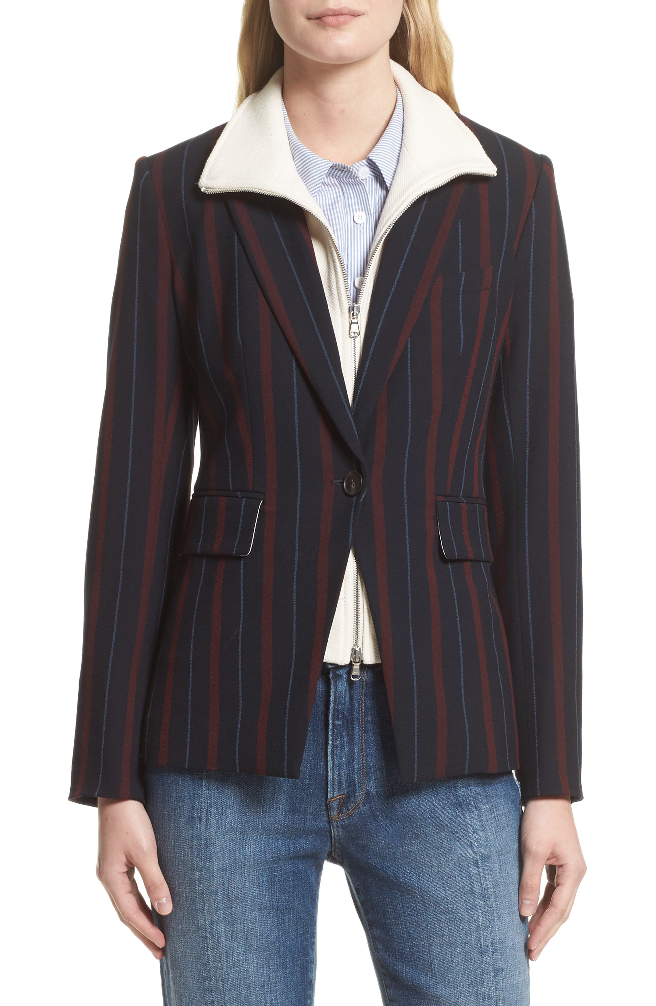 VERONICA BEARD Carter Cutaway Jacket with Removable Dickey