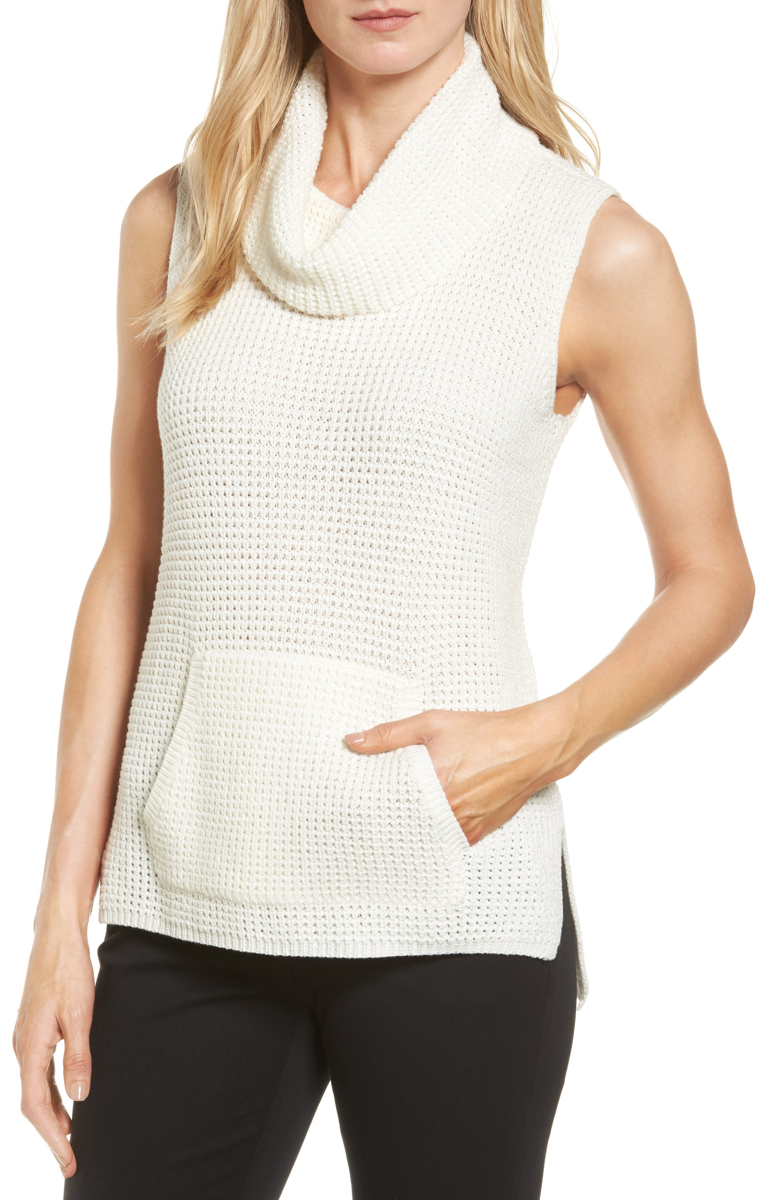 Main Image - Two by Vince Camuto Waffle Stitch Vest (Regular & Petite)
