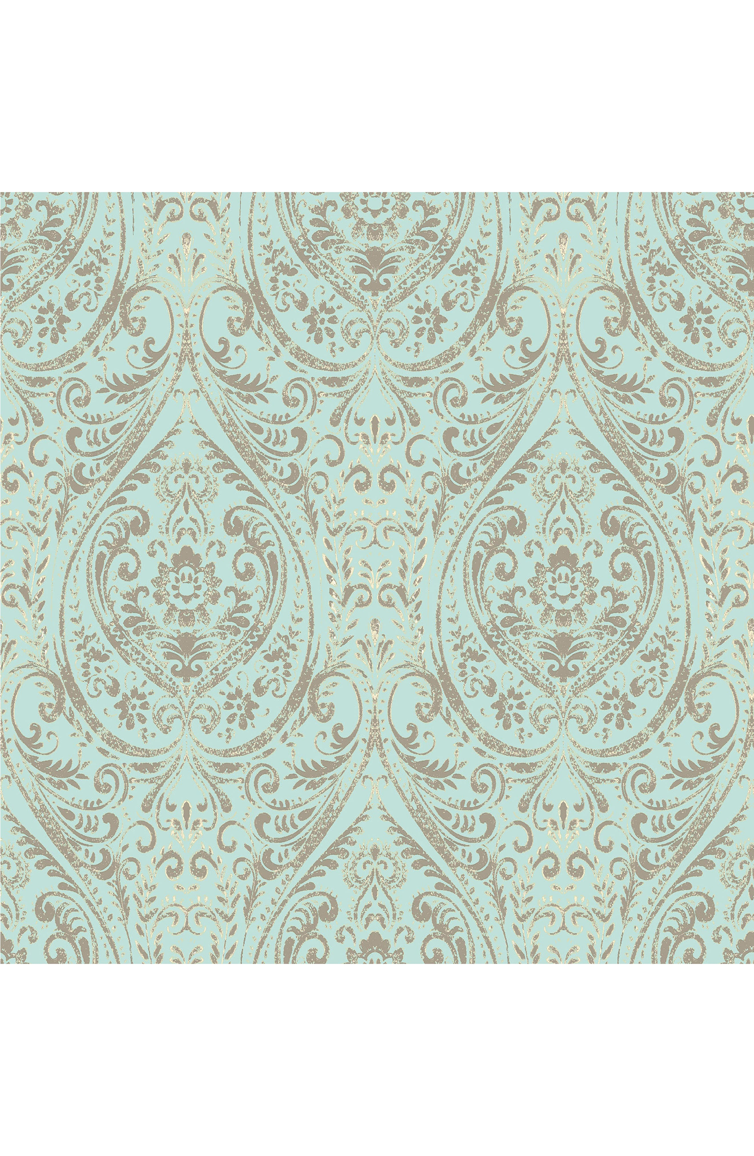 Nomad Damask  Peel & Stick Vinyl Wallpaper,                         Main,                         color, Blue