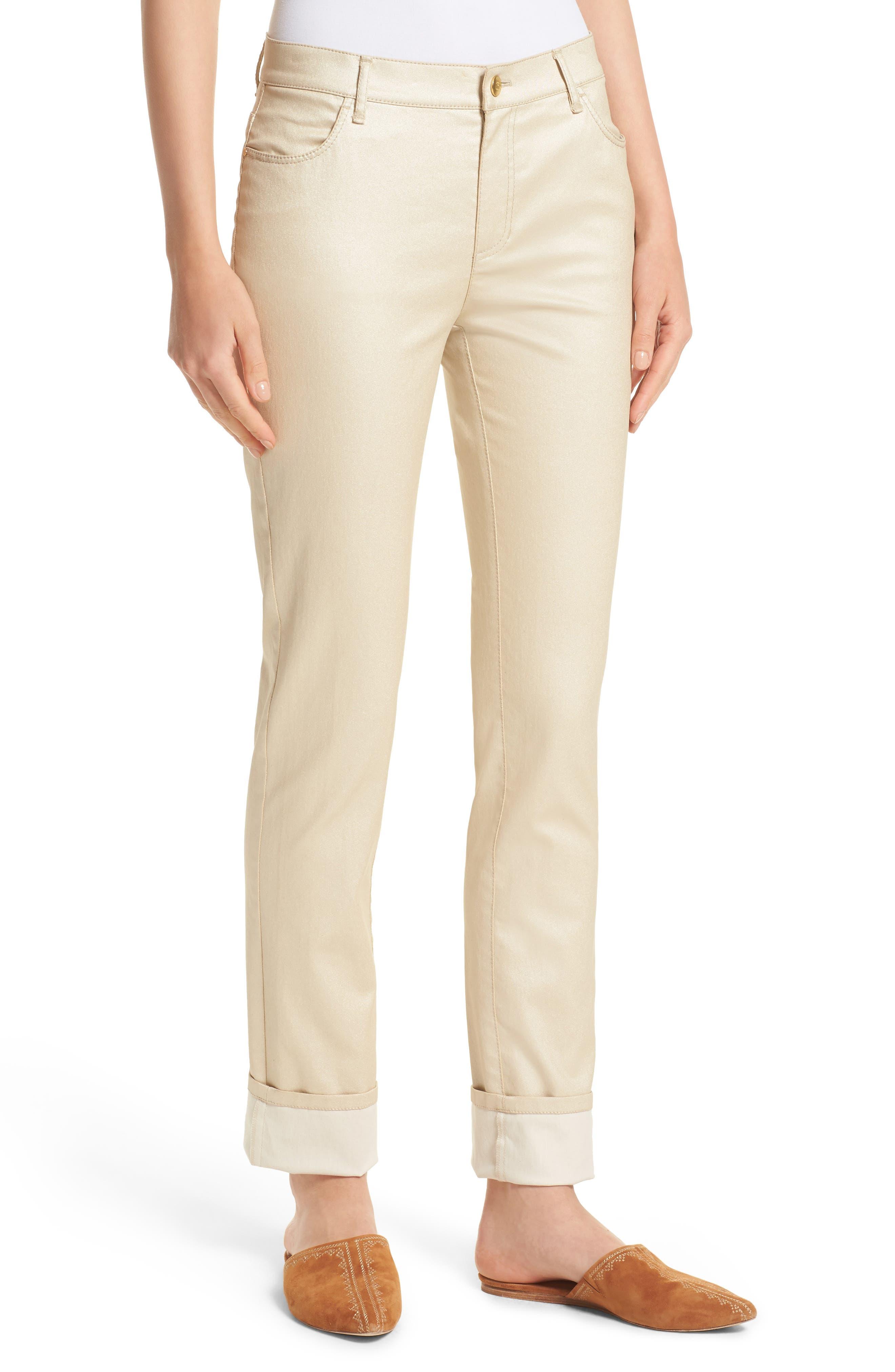 Alternate Image 6  - Lafayette 148 New York Curvy Fit Skinny Jeans (Mason)