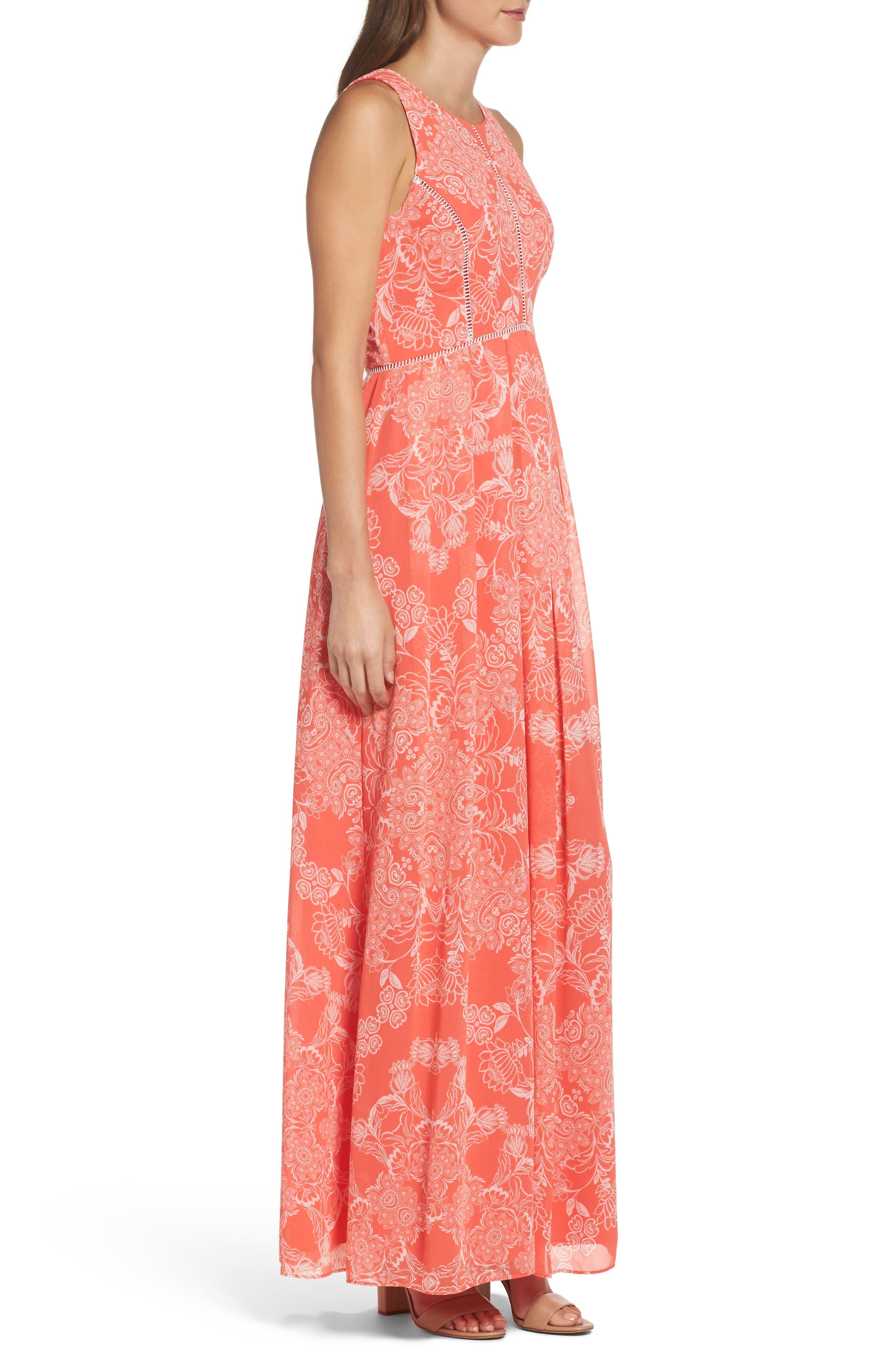 Alternate Image 3  - Vince Camuto Chiffon Maxi Dress (Regular & Petite)