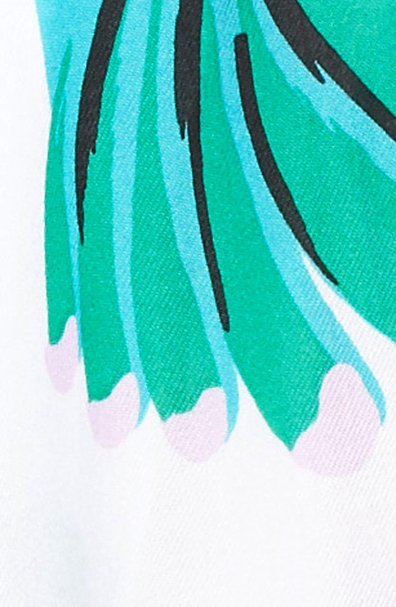 hummingbird oblong scarf,                             Alternate thumbnail 3, color,                             Bougainvillea
