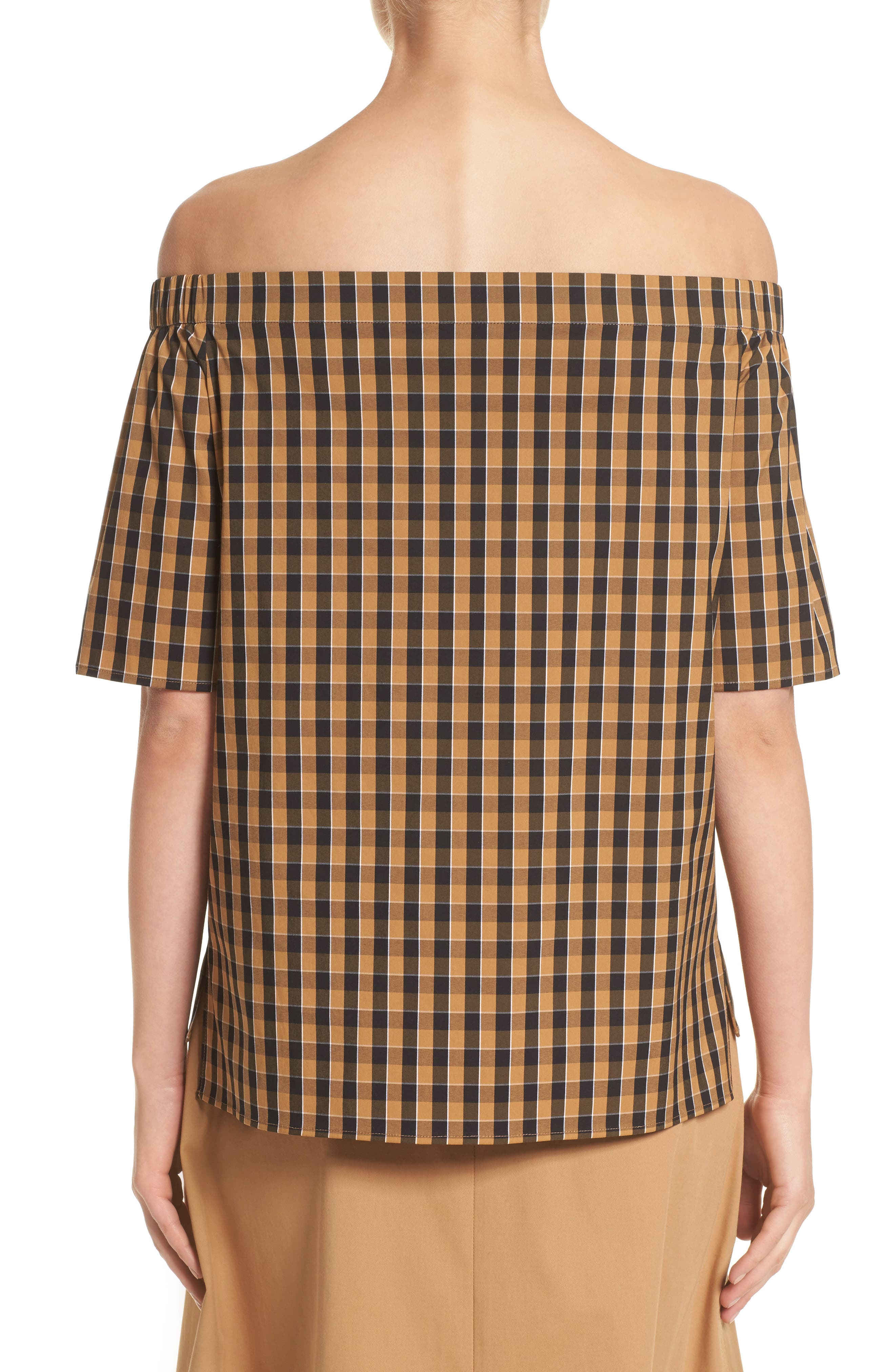 Alternate Image 2  - Lafayette 148 New York Livvy Neo Classic Check Blouse