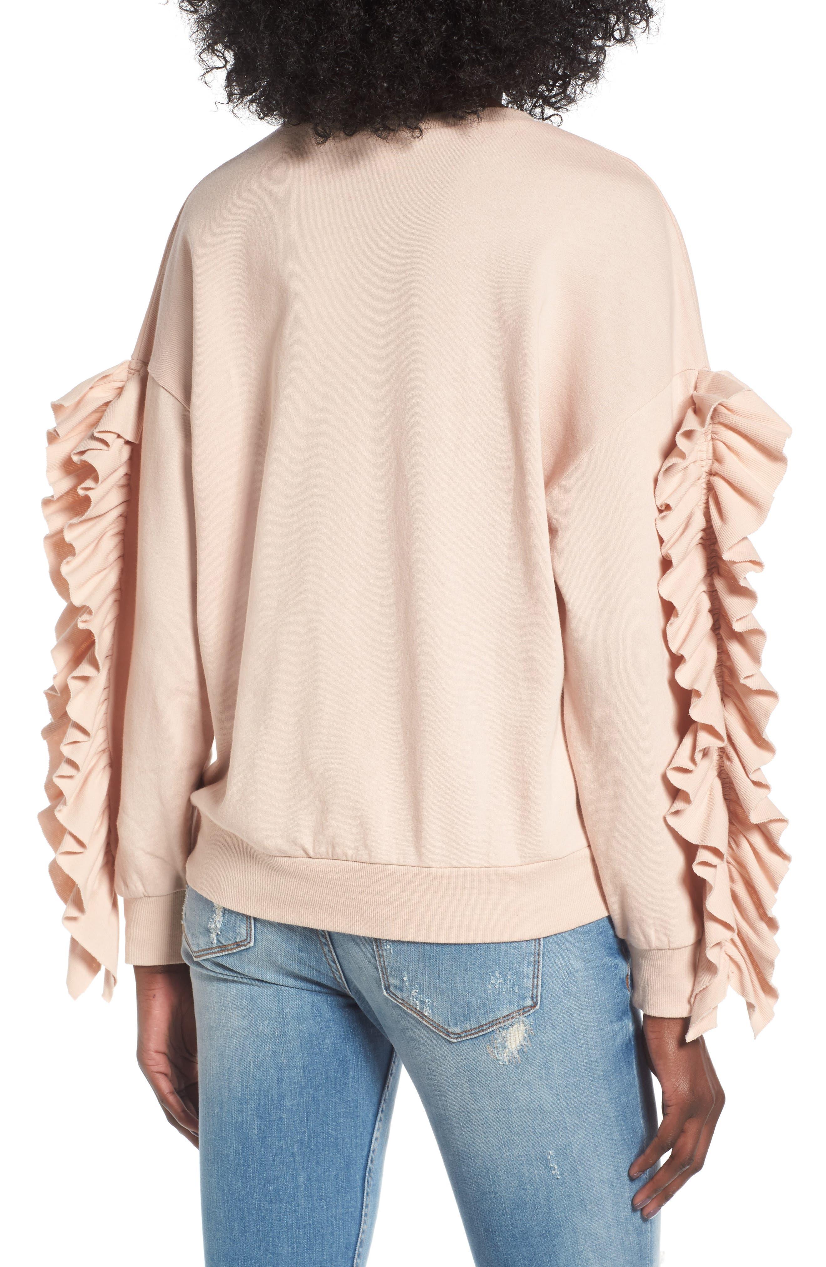 Alternate Image 2  - BP. Ruffle Sleeve Sweatshirt