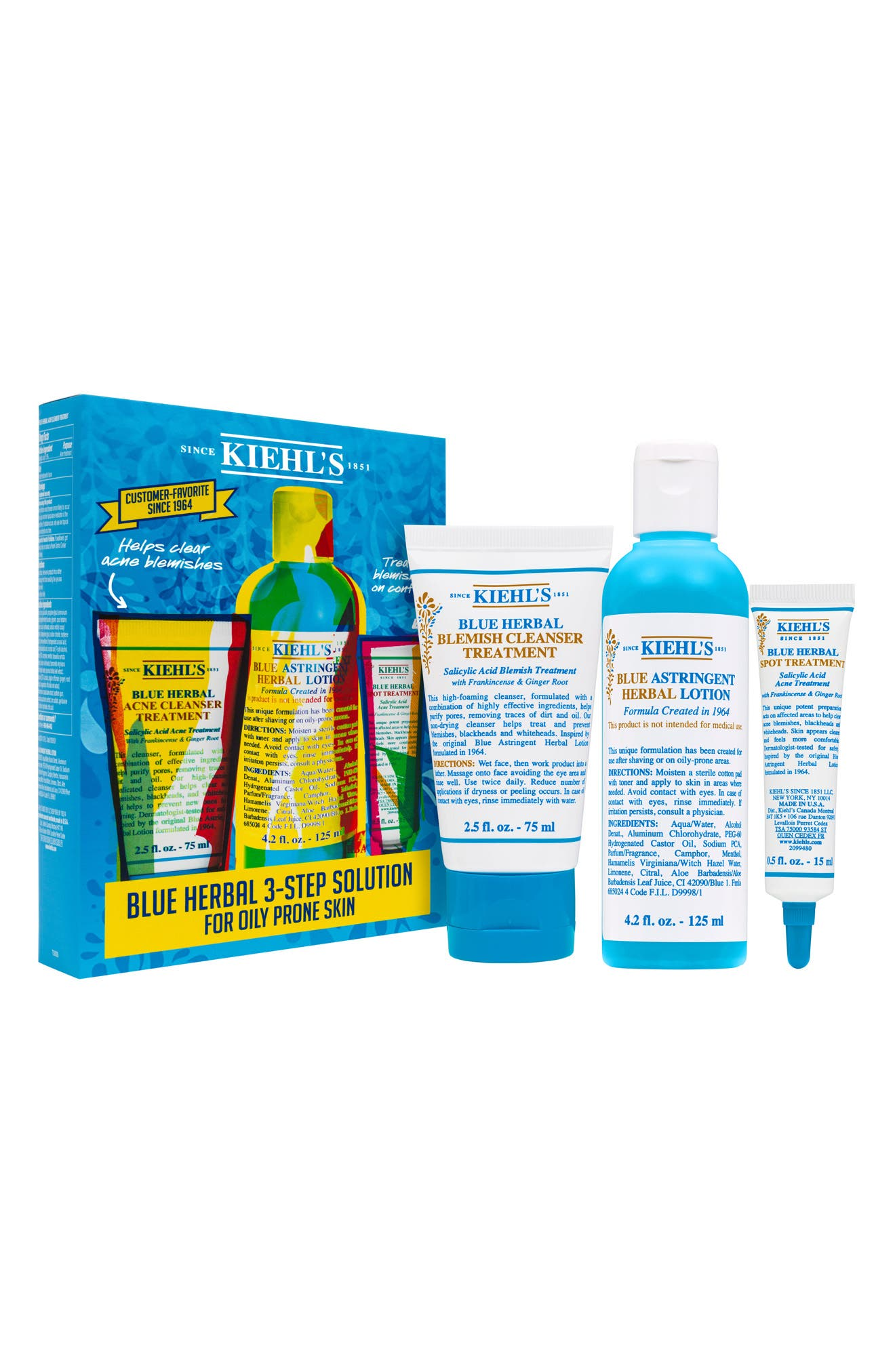 Main Image - Kiehl's Since 1851 Blue Herbal Acne Elimination System