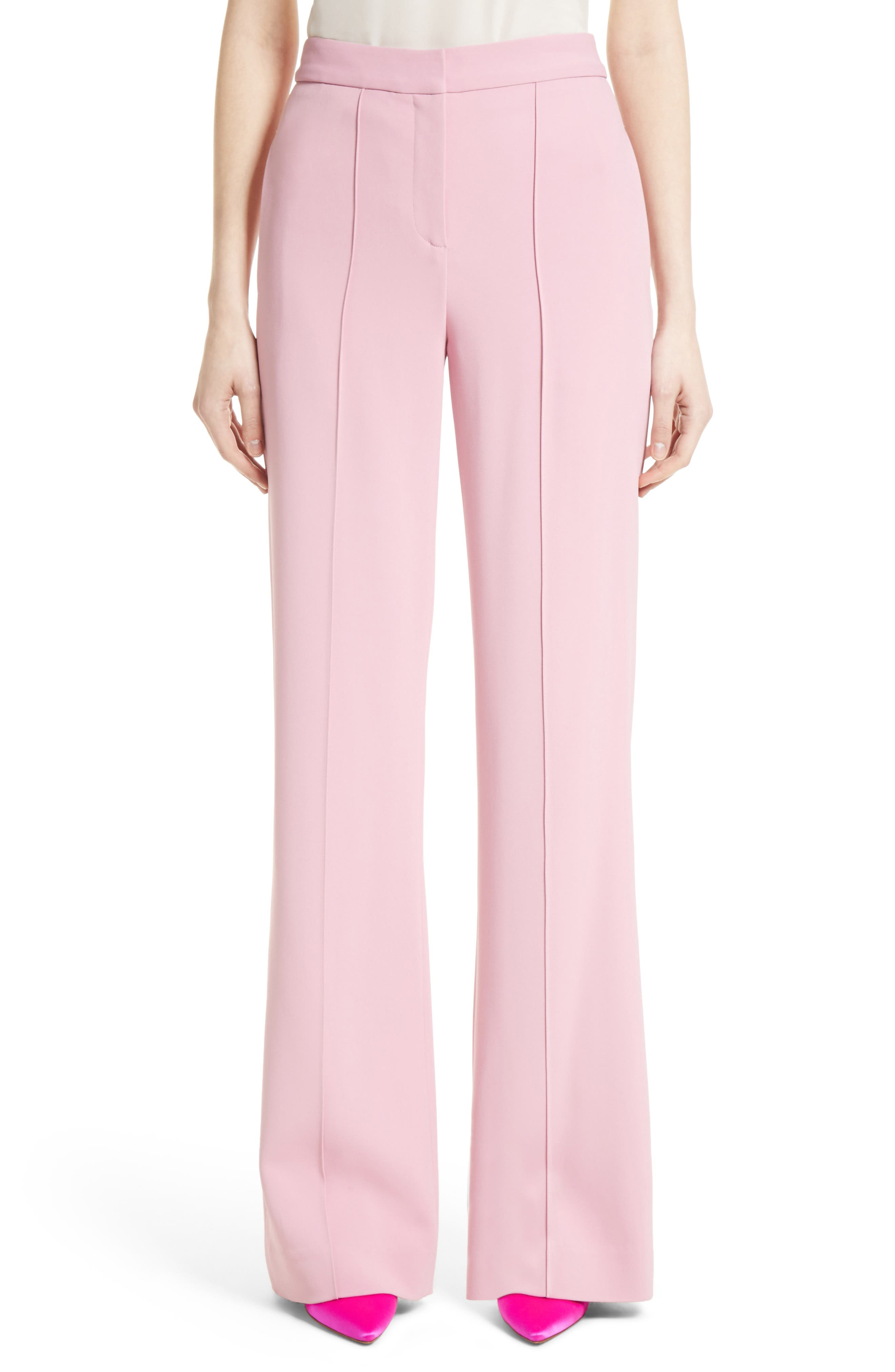 Stretch Cady Wide Leg Trousers,                         Main,                         color, Pink