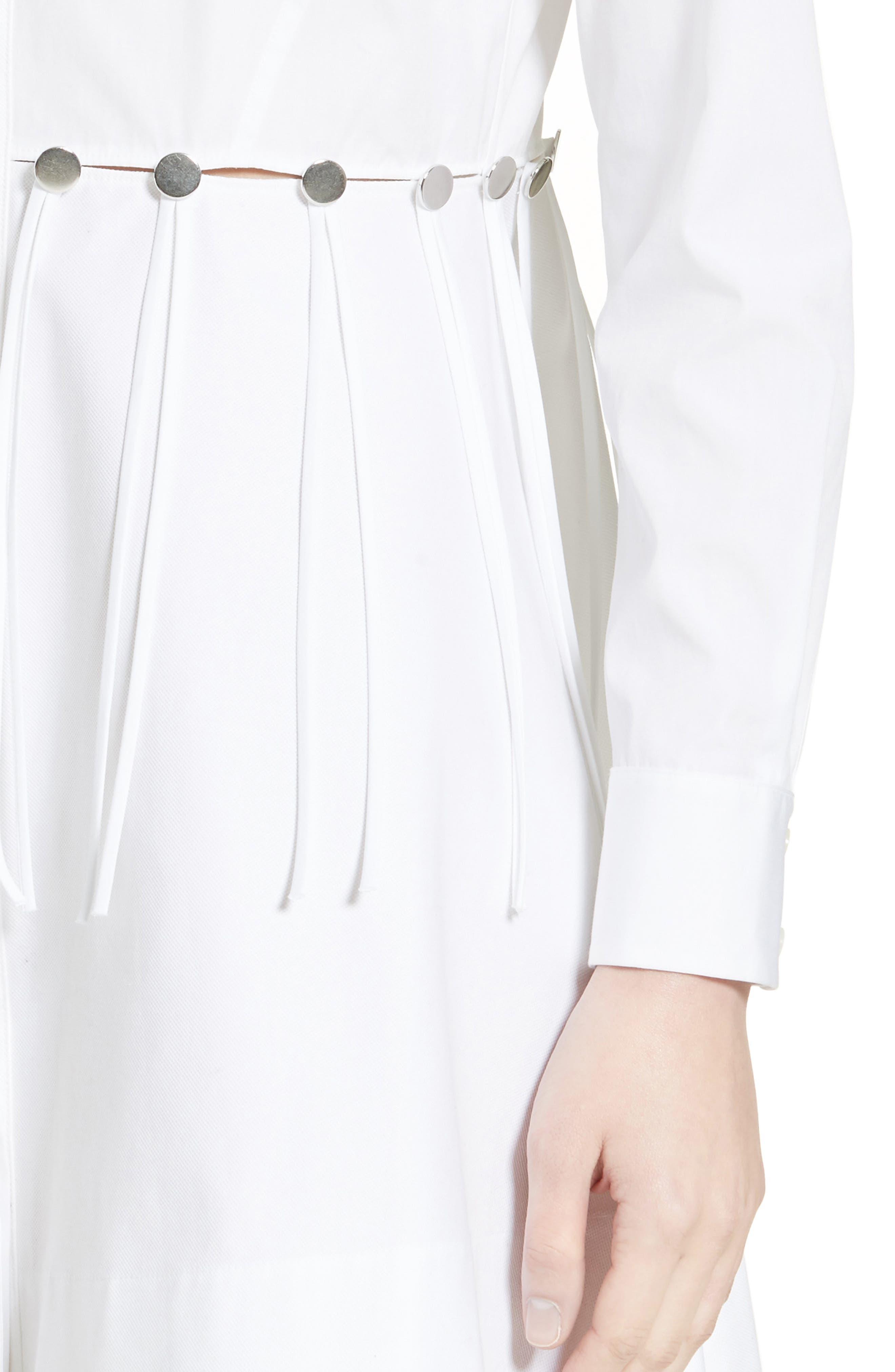 Cotton Poplin Shirtdress,                             Alternate thumbnail 6, color,                             Eggshell