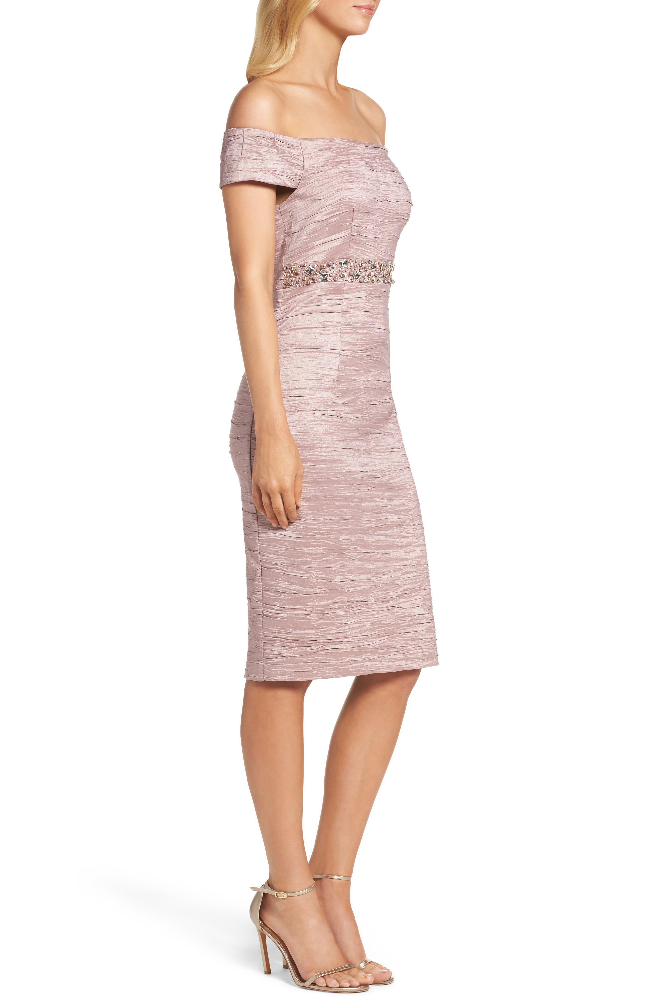 Alternate Image 3  - Eliza J Off the Shoulder Taffeta Dress (Regular & Petite)