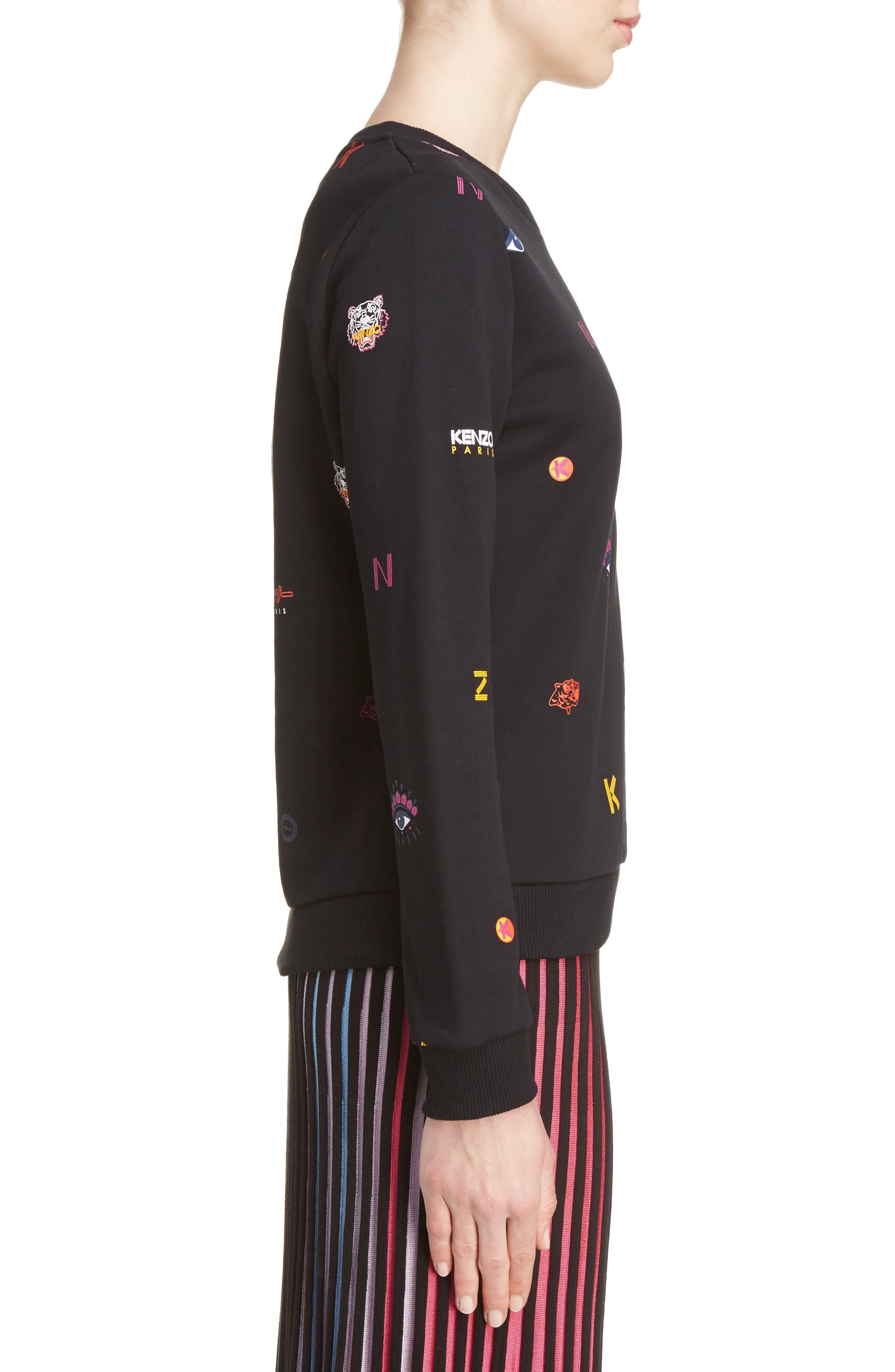 Alternate Image 4  - KENZO Multi Icons Sweatshirt