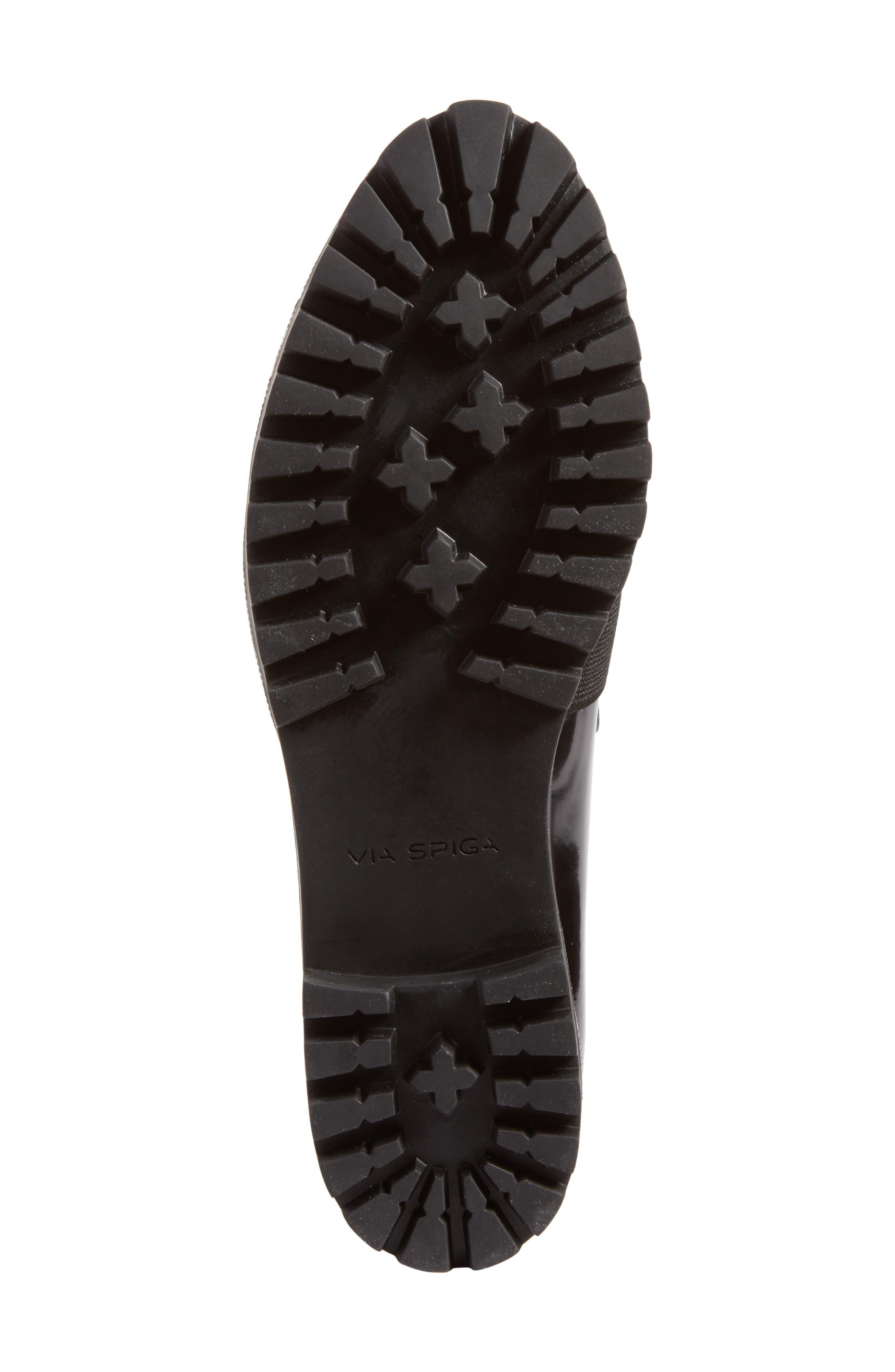 Gallo Platform Loafer,                             Alternate thumbnail 7, color,                             Black Leather