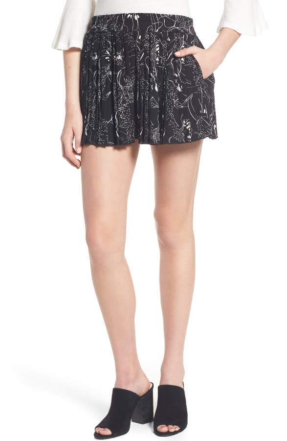 Leith High Waist Pleat Shorts | Nordstrom