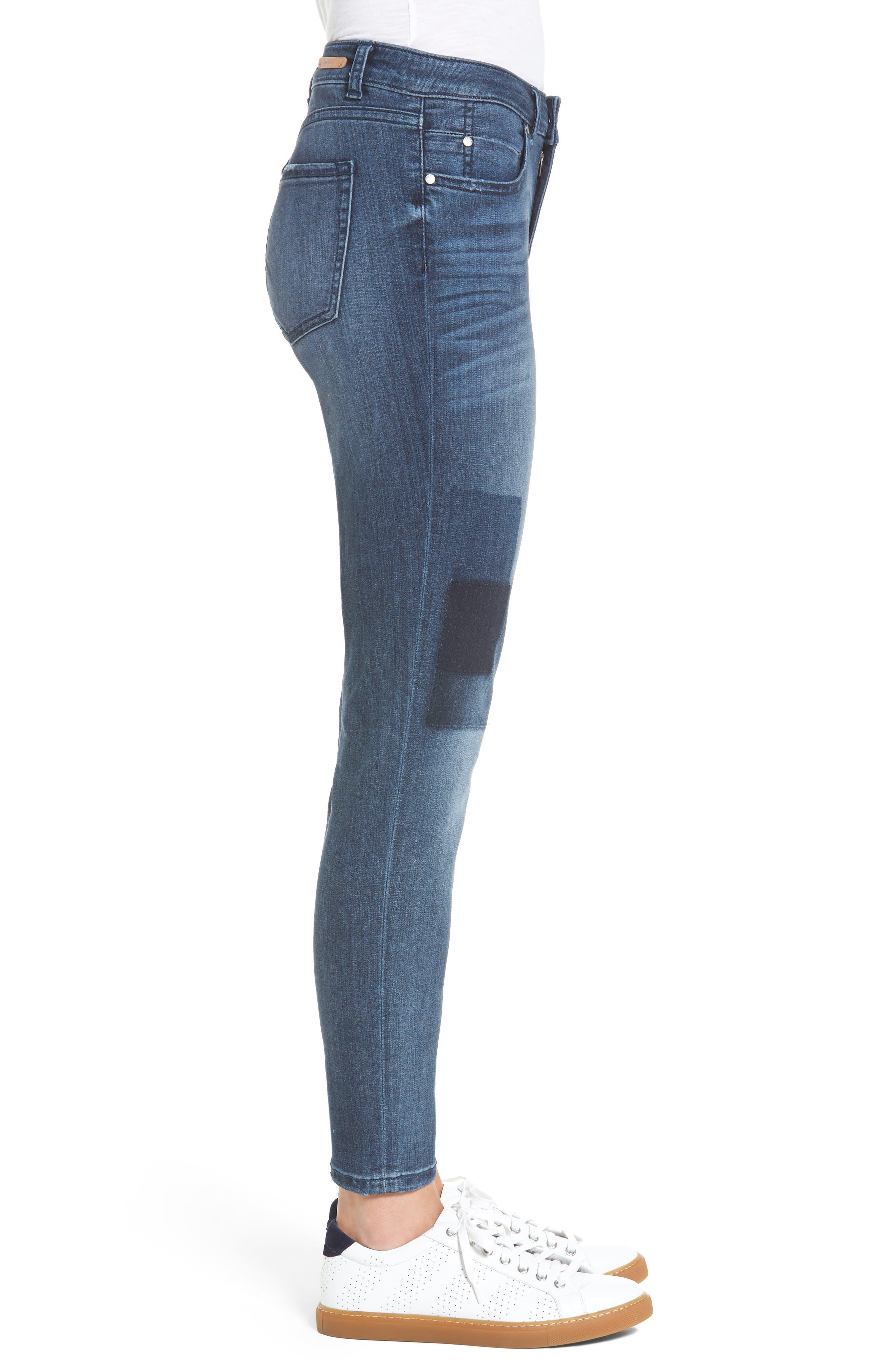 Alternate Image 4  - Caslon® Patchwork Skinny Jeans (Regular & Petite)