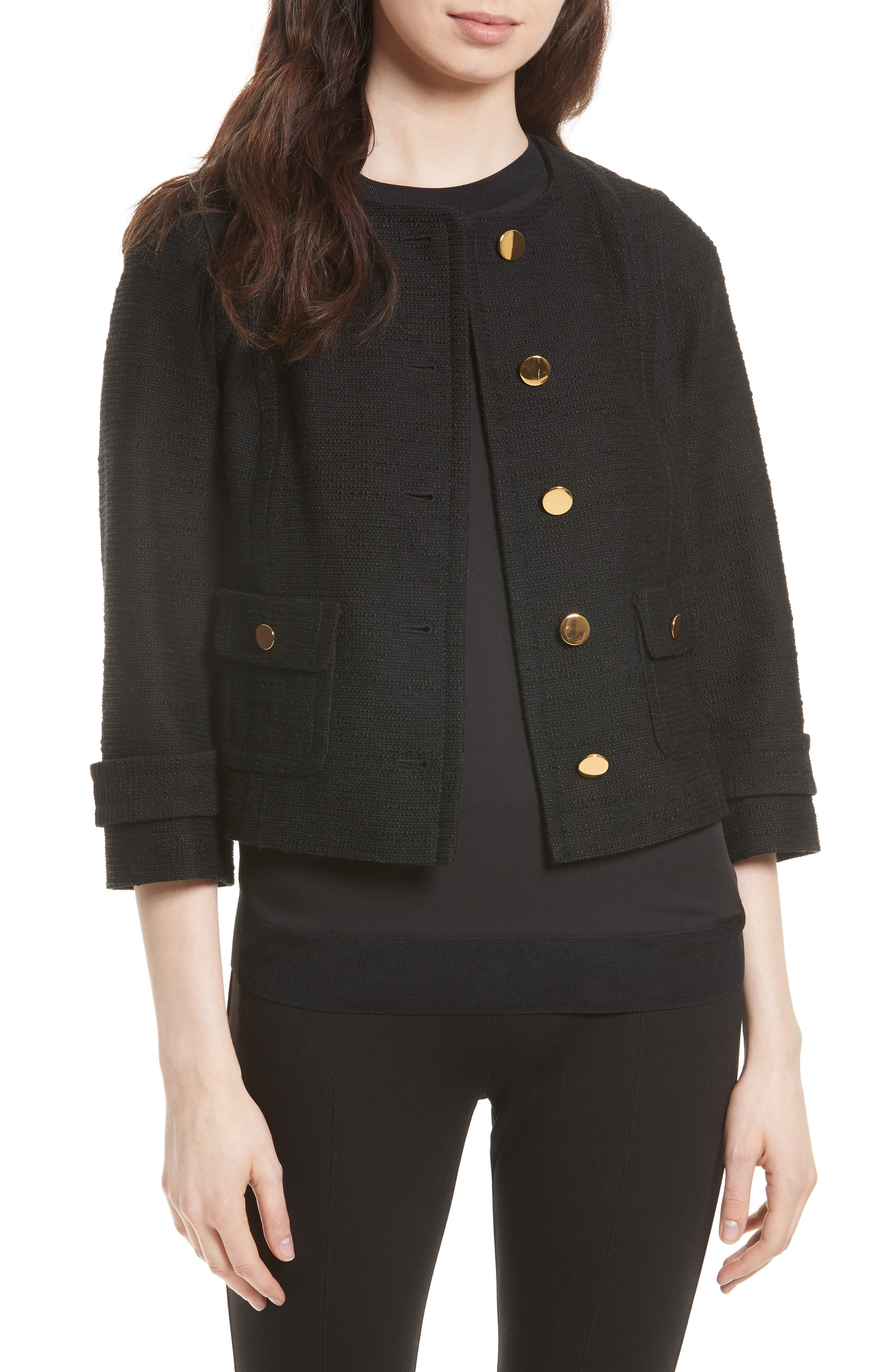 kate spade new york textured tweed jacket