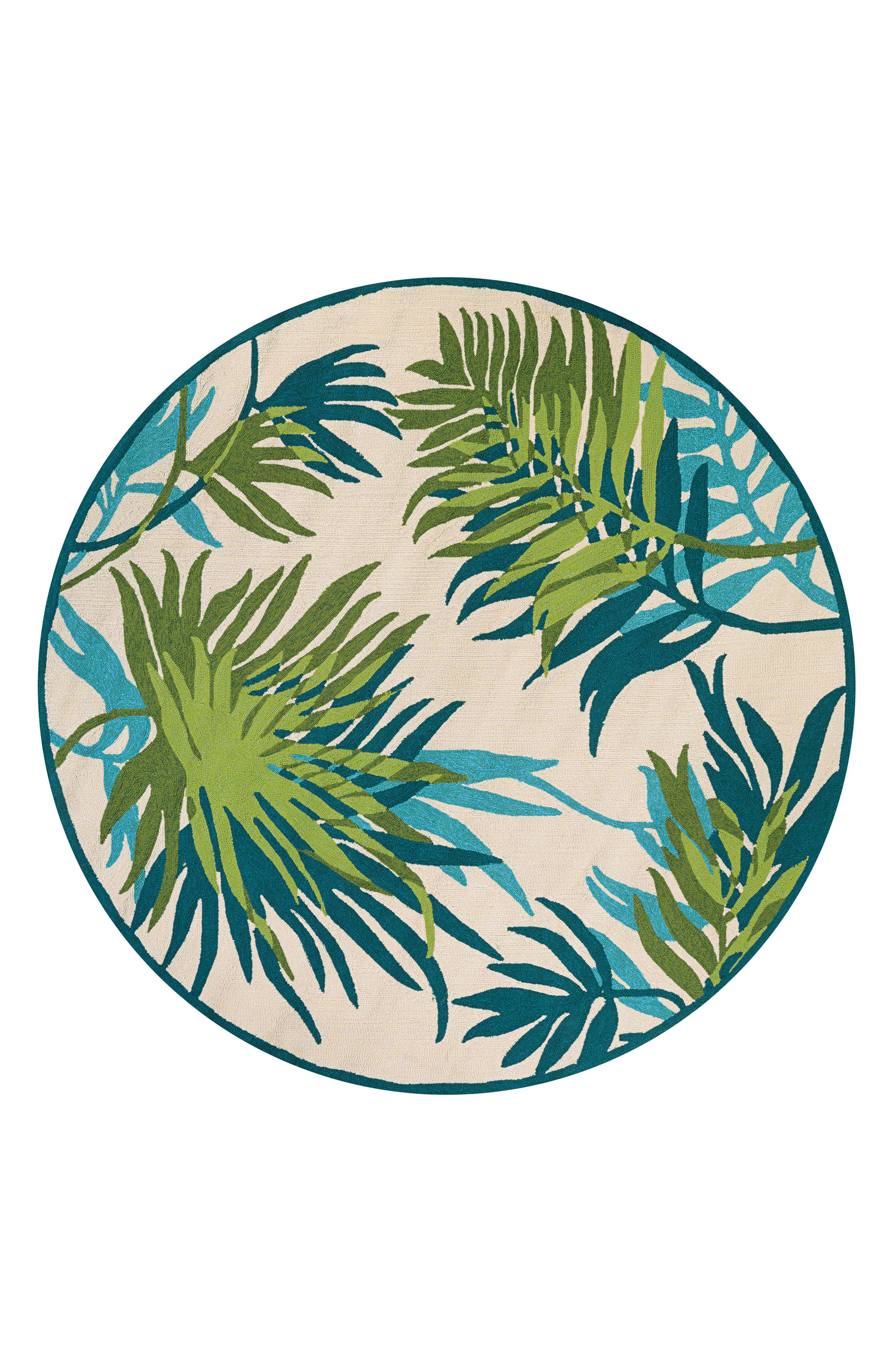 Alternate Image 1 Selected - Couristan Jungle Leaves Indoor/Outdoor Rug