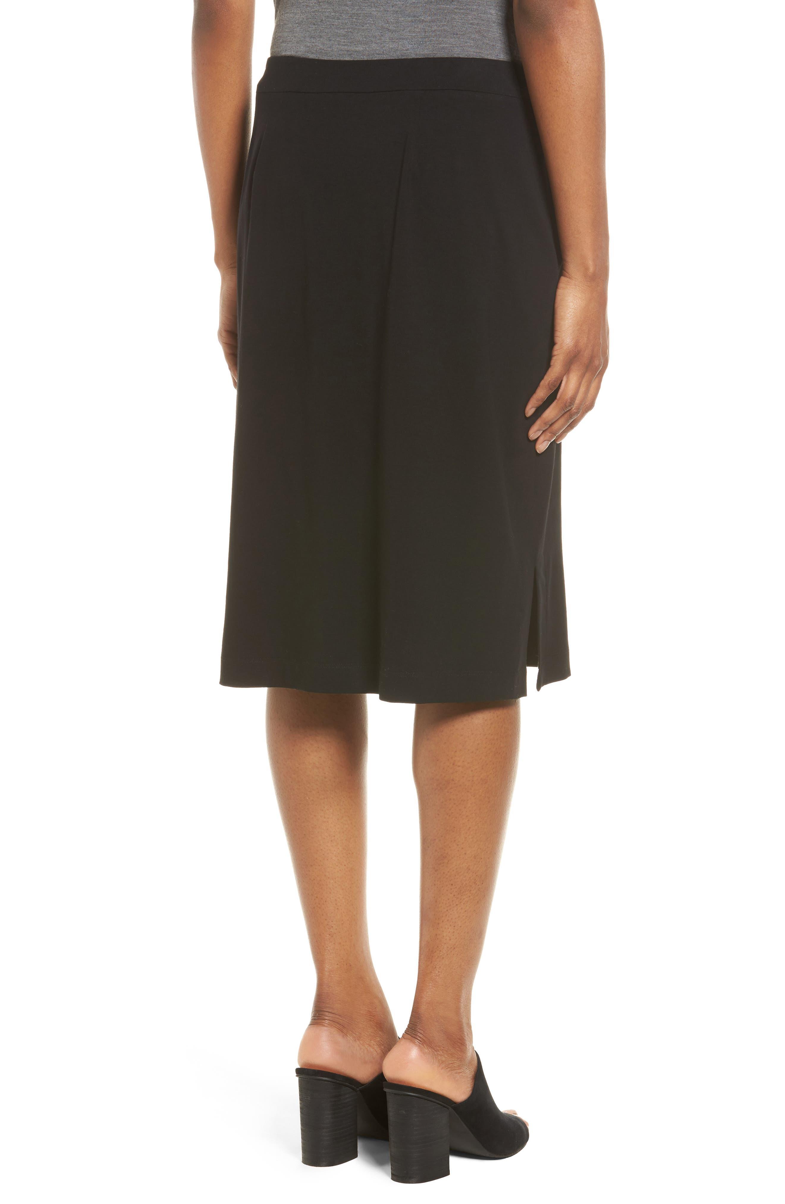 Alternate Image 2  - Eileen Fisher Side Slit Jersey Skirt