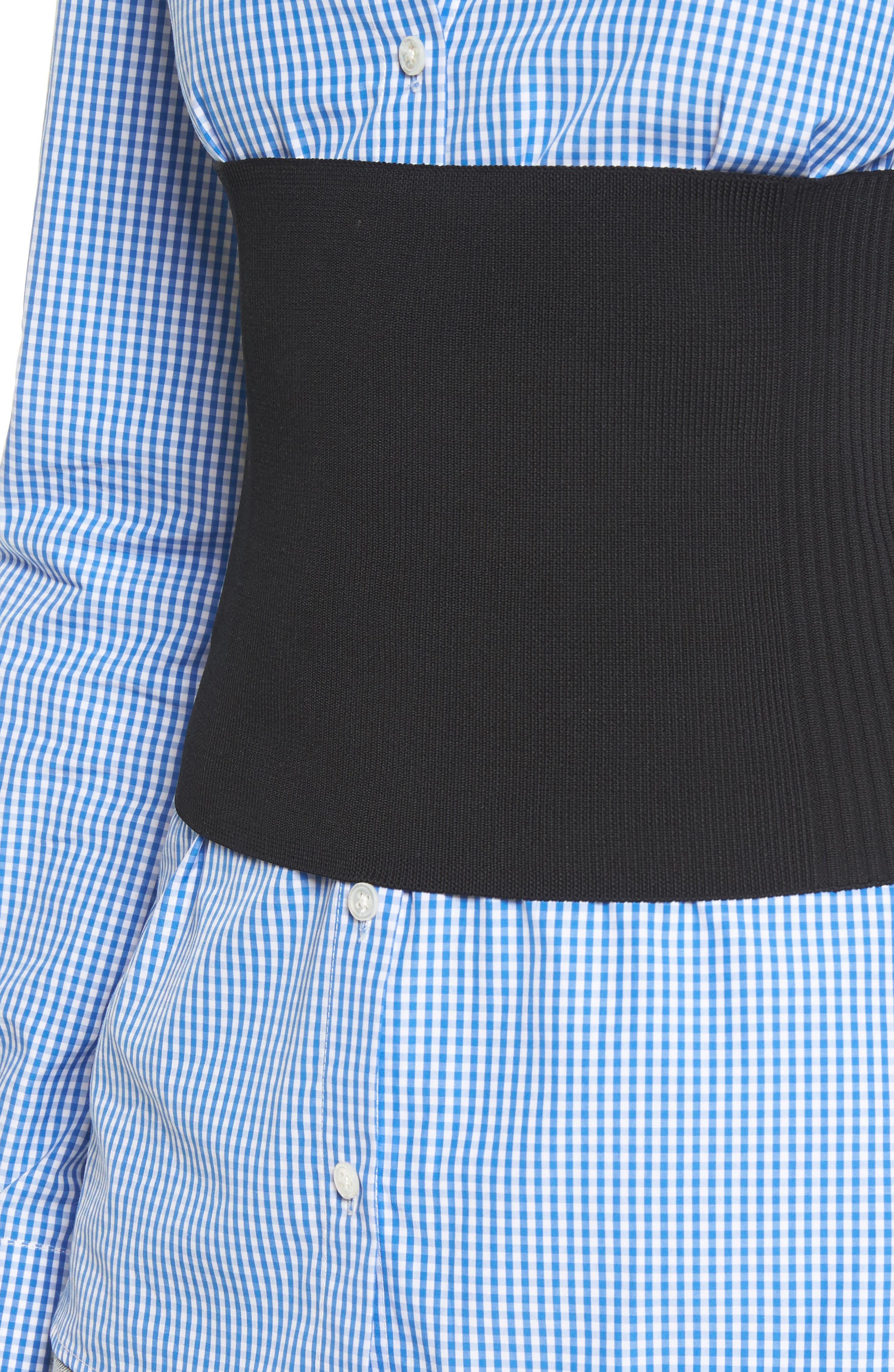 Rib Knit Tube Corset,                             Alternate thumbnail 4, color,                             Black