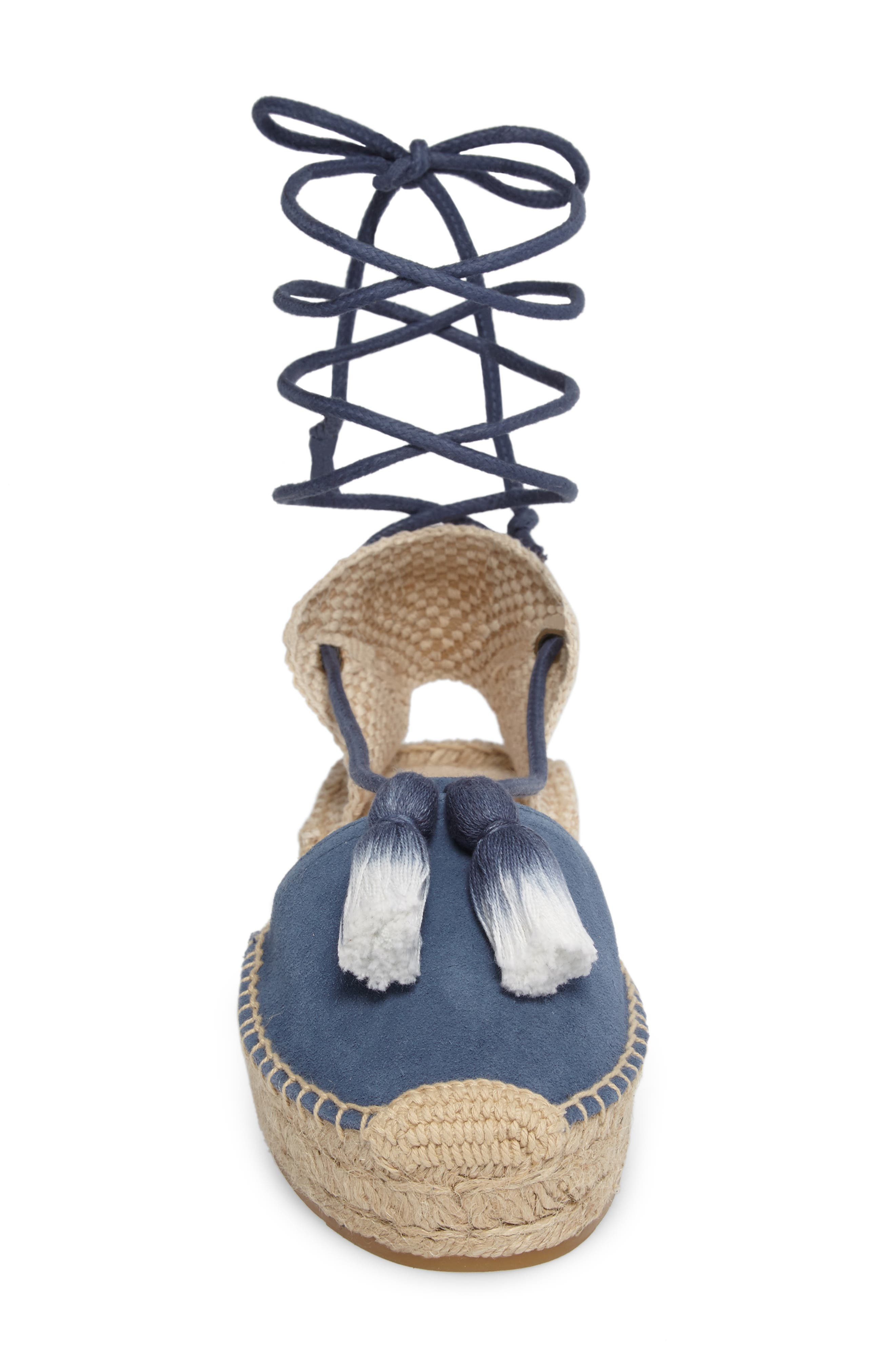 Alternate Image 4  - Soludos Tassel Lace-Up Espadrille (Women)