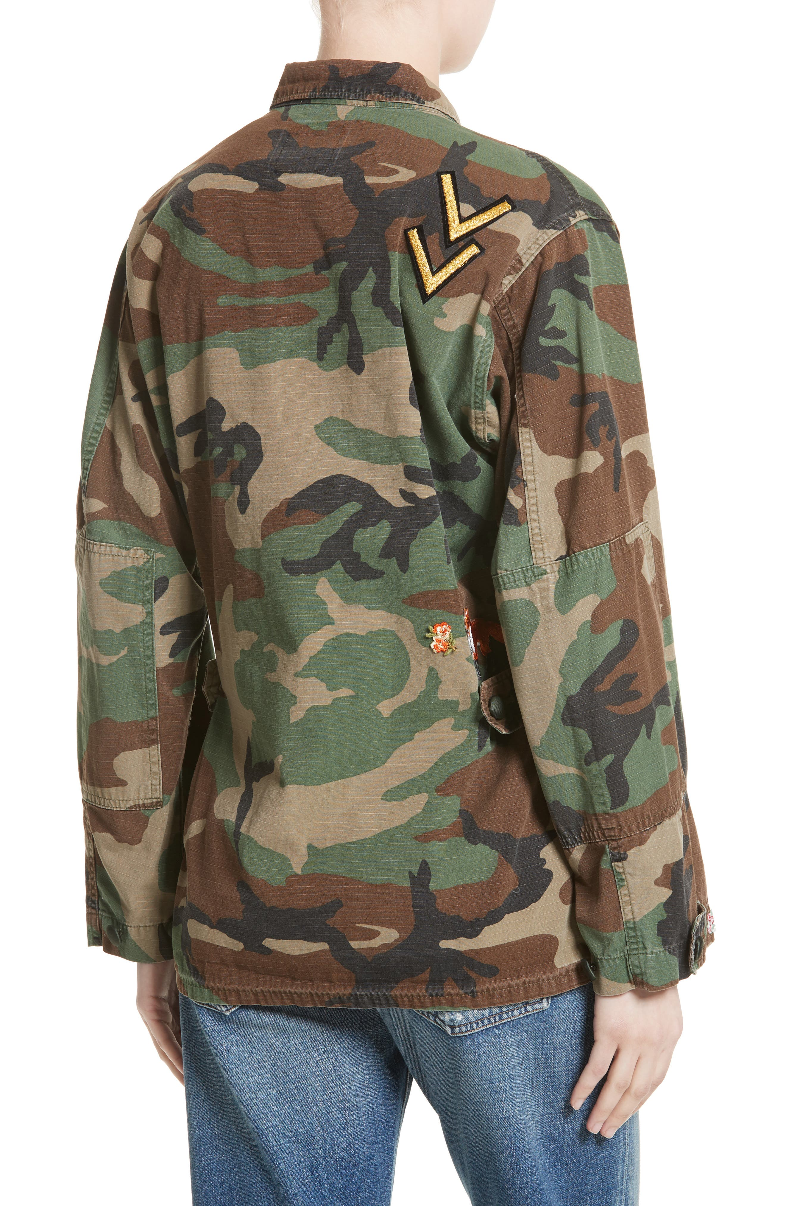 Alternate Image 2  - Harvey Faircloth Vintage Woodland Camo Jacket