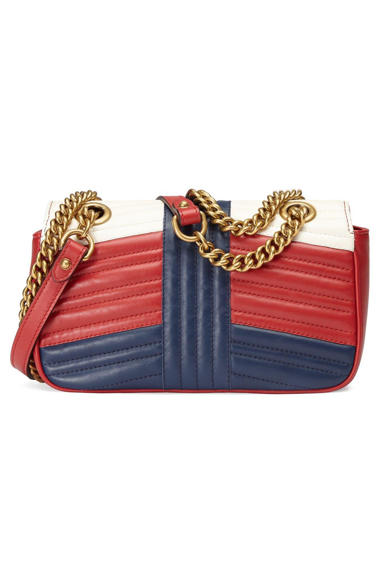 Alternate Image 2  - Gucci Mini GG Marmont 2.0 Tricolor Matelassé Leather Shoulder Bag