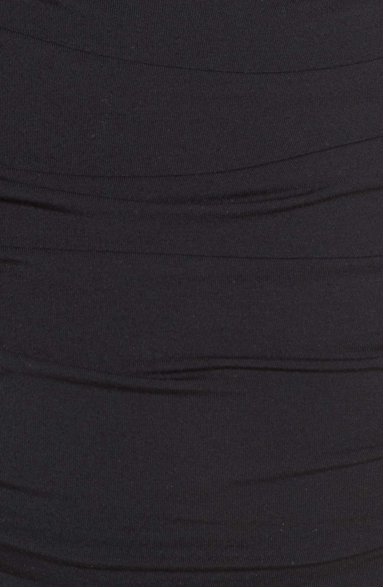 'Vita' Maternity Maxi Dress,                             Alternate thumbnail 5, color,                             Black