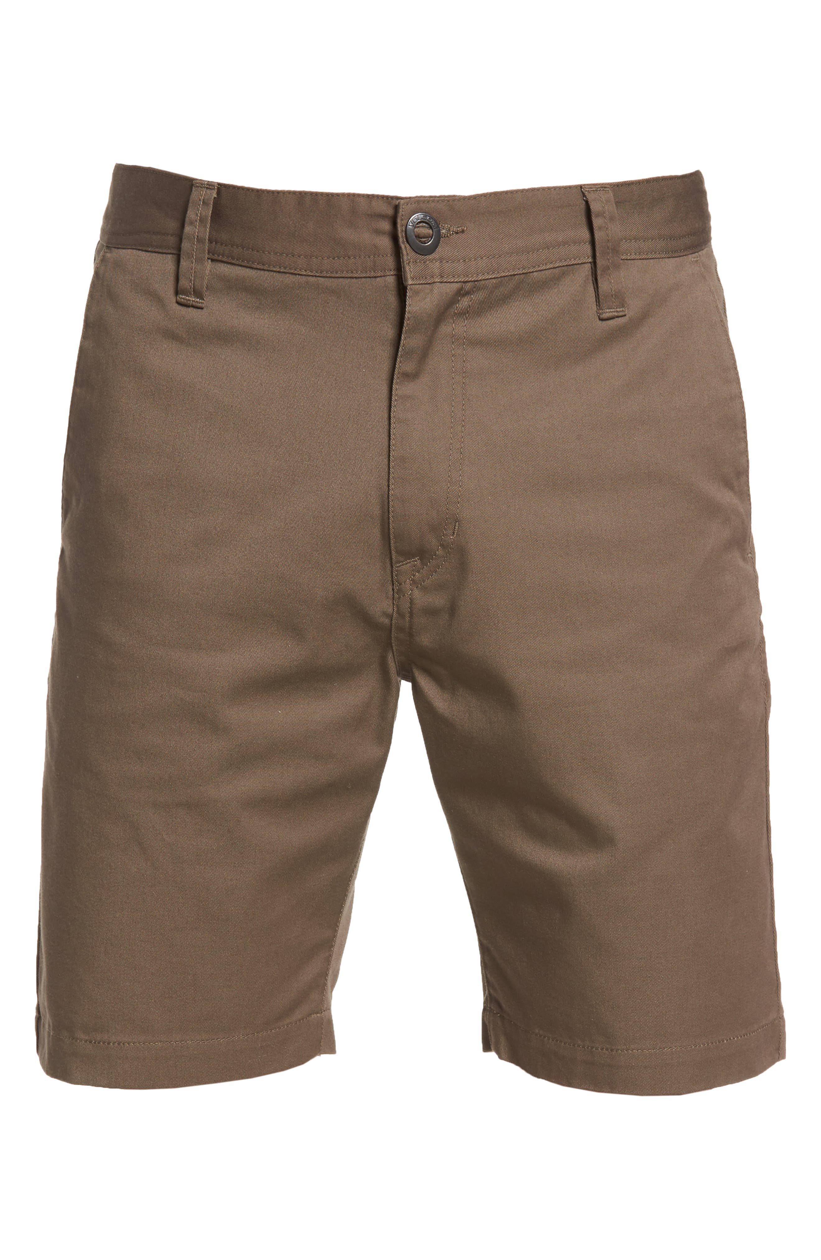 Drifter Modern Chino Shorts,                             Alternate thumbnail 6, color,                             Mushroom