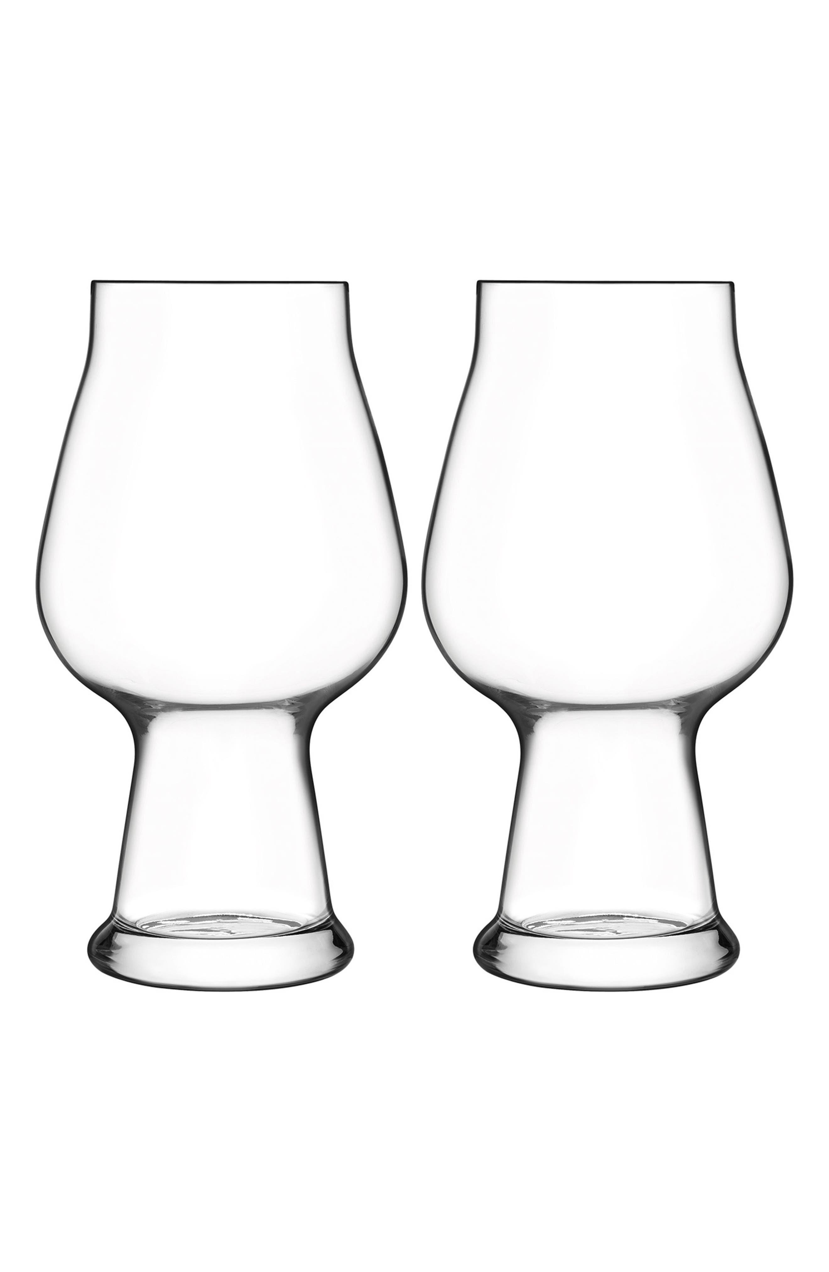 Birrateque Set of 2 Stout Glasses,                         Main,                         color, Clear