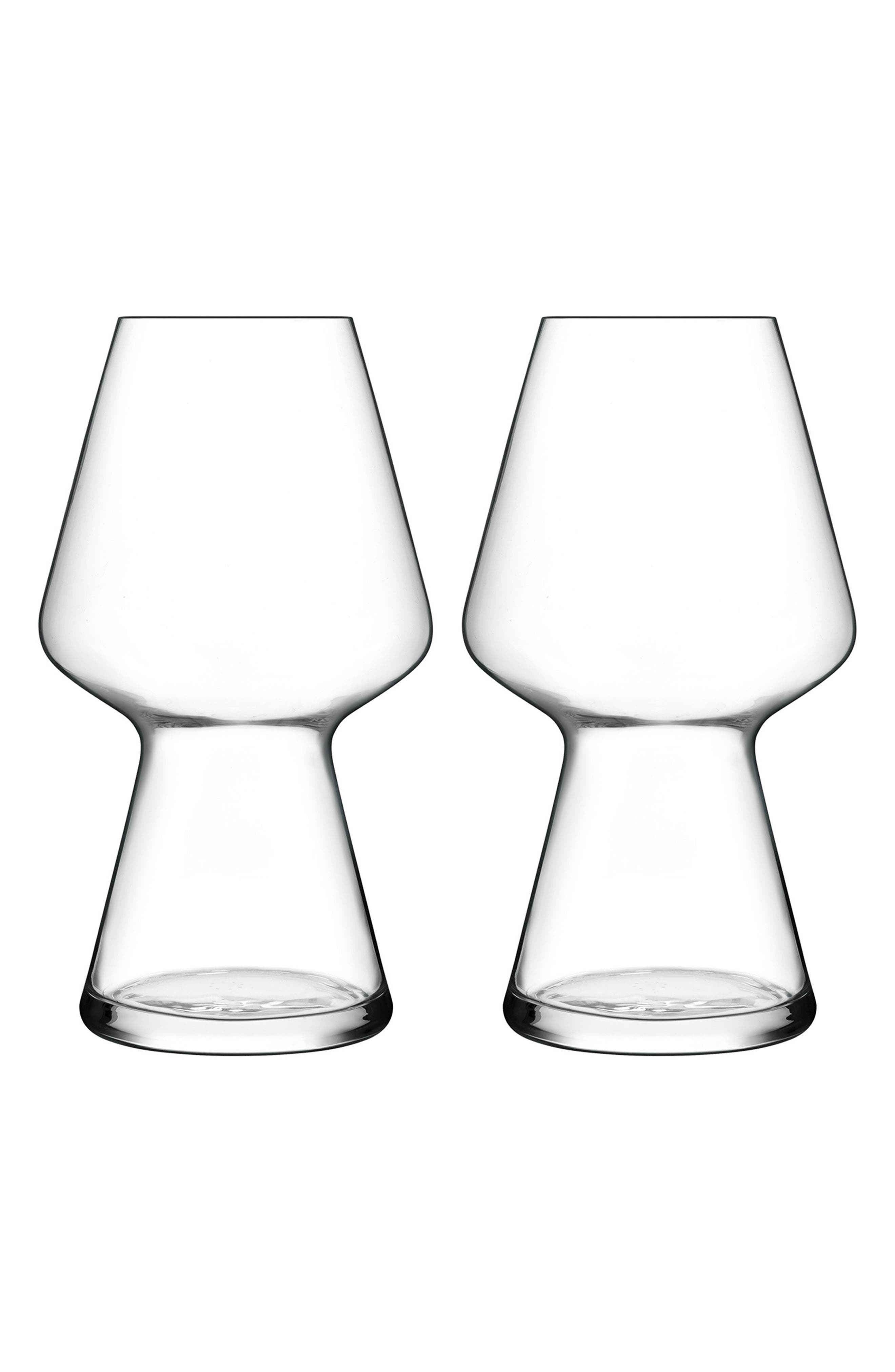 Birrateque Set of 2 Seasonal Beer Glasses,                         Main,                         color, Clear
