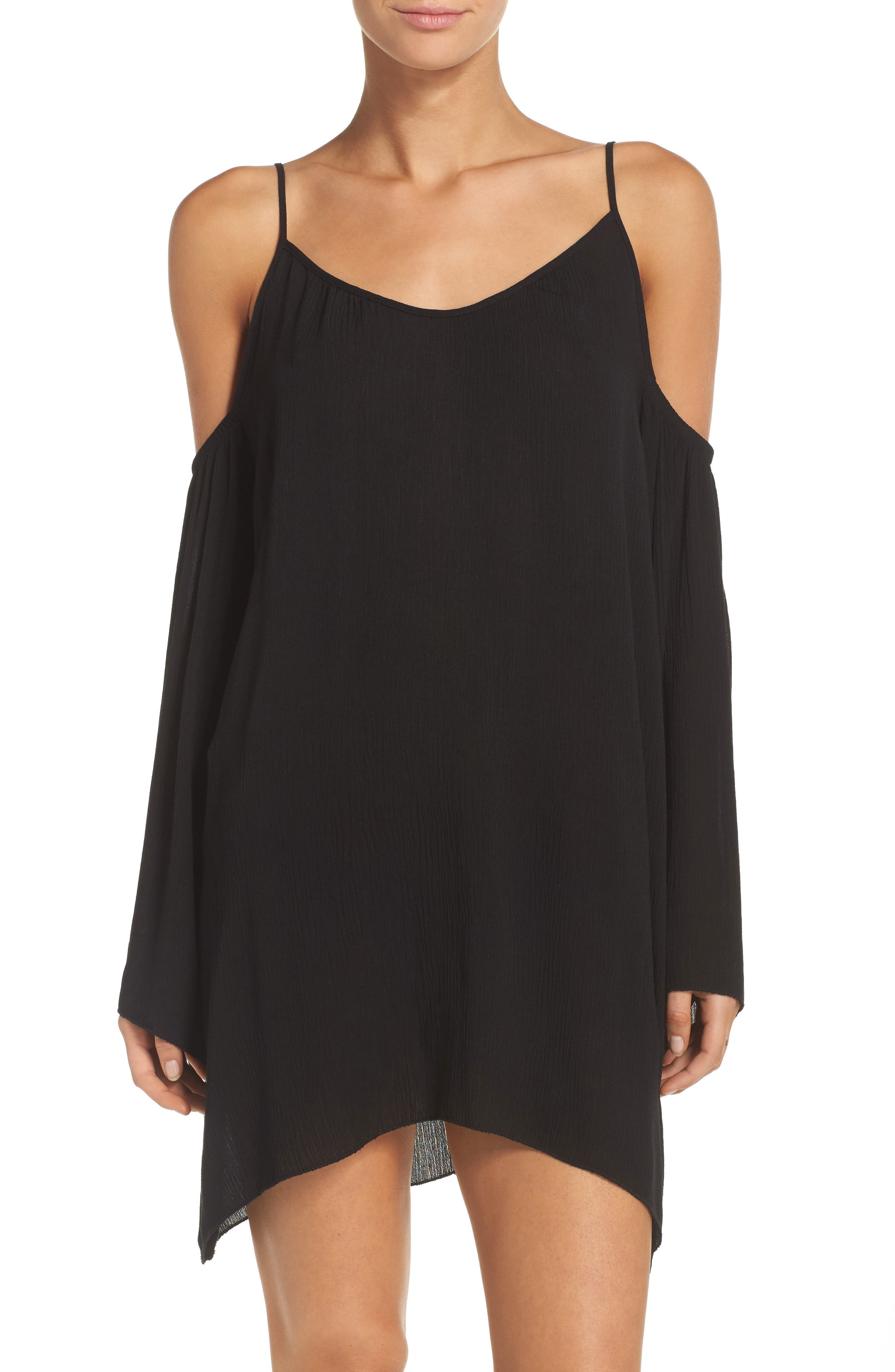 Elan Cold Shoulder Cover-Up Tunic