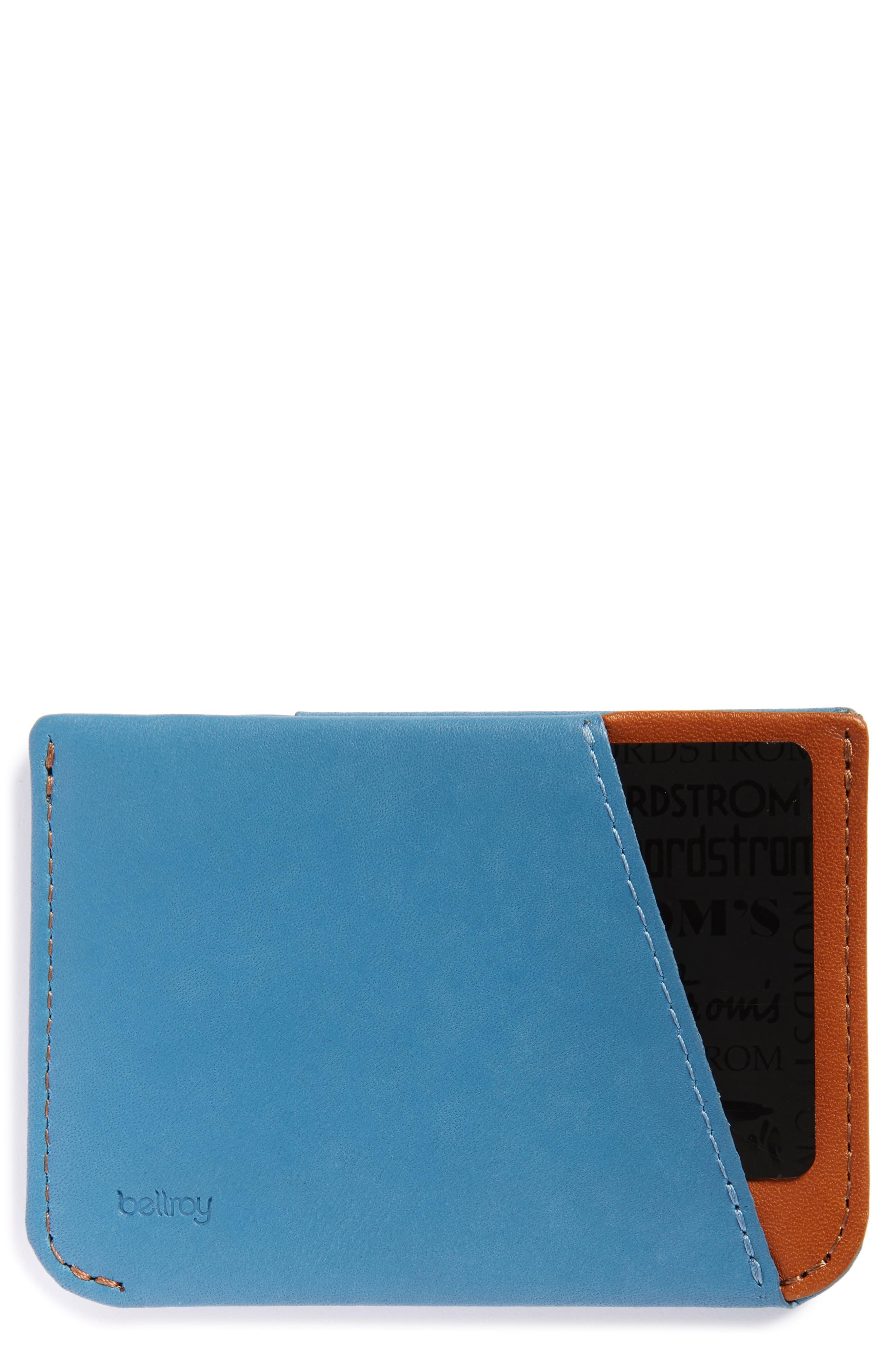 Micro Sleeve Card Case,                             Main thumbnail 1, color,                             Arctic Blue