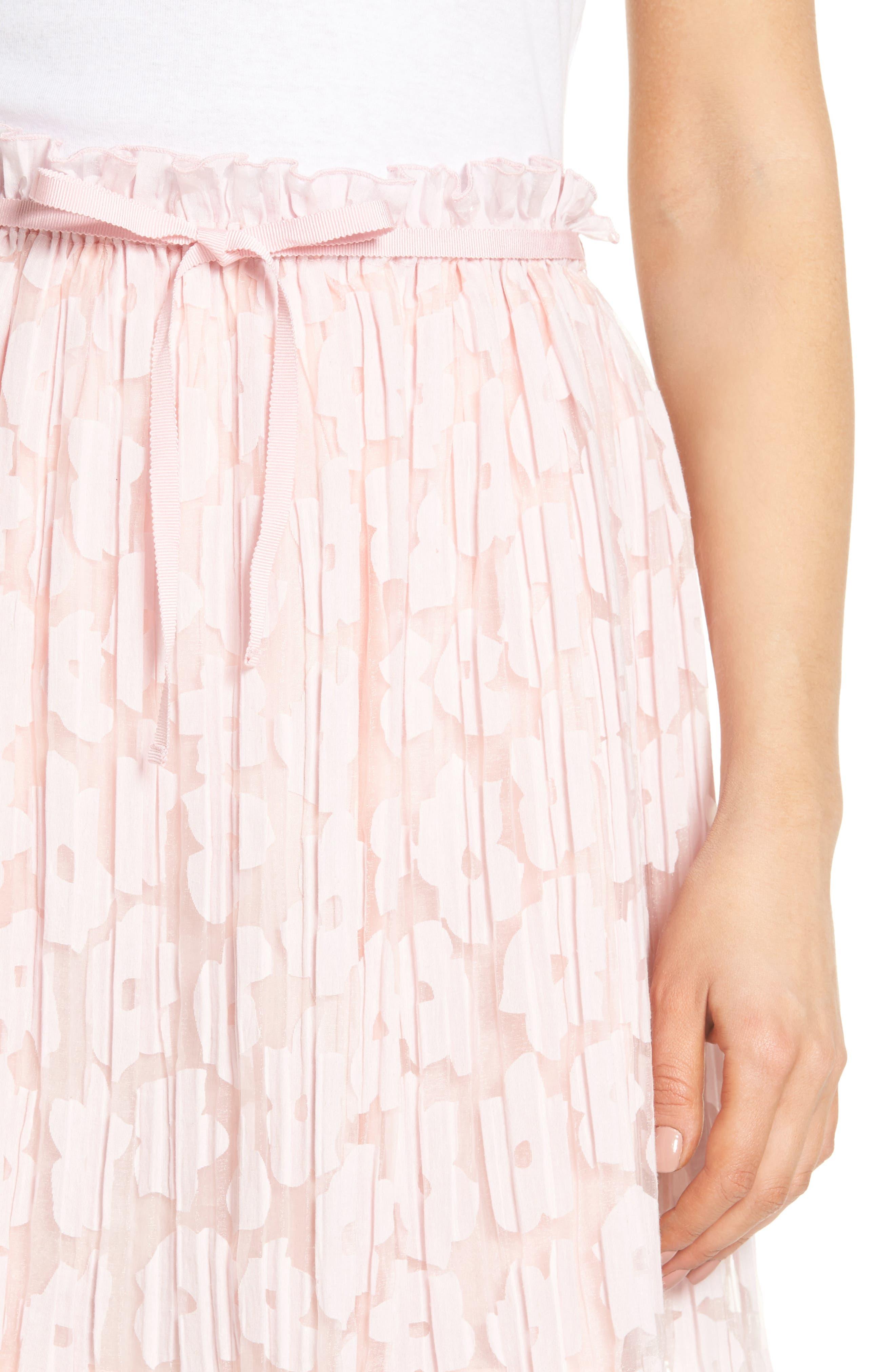 Karlie Burnout Skirt,                             Alternate thumbnail 4, color,                             Rose Pale