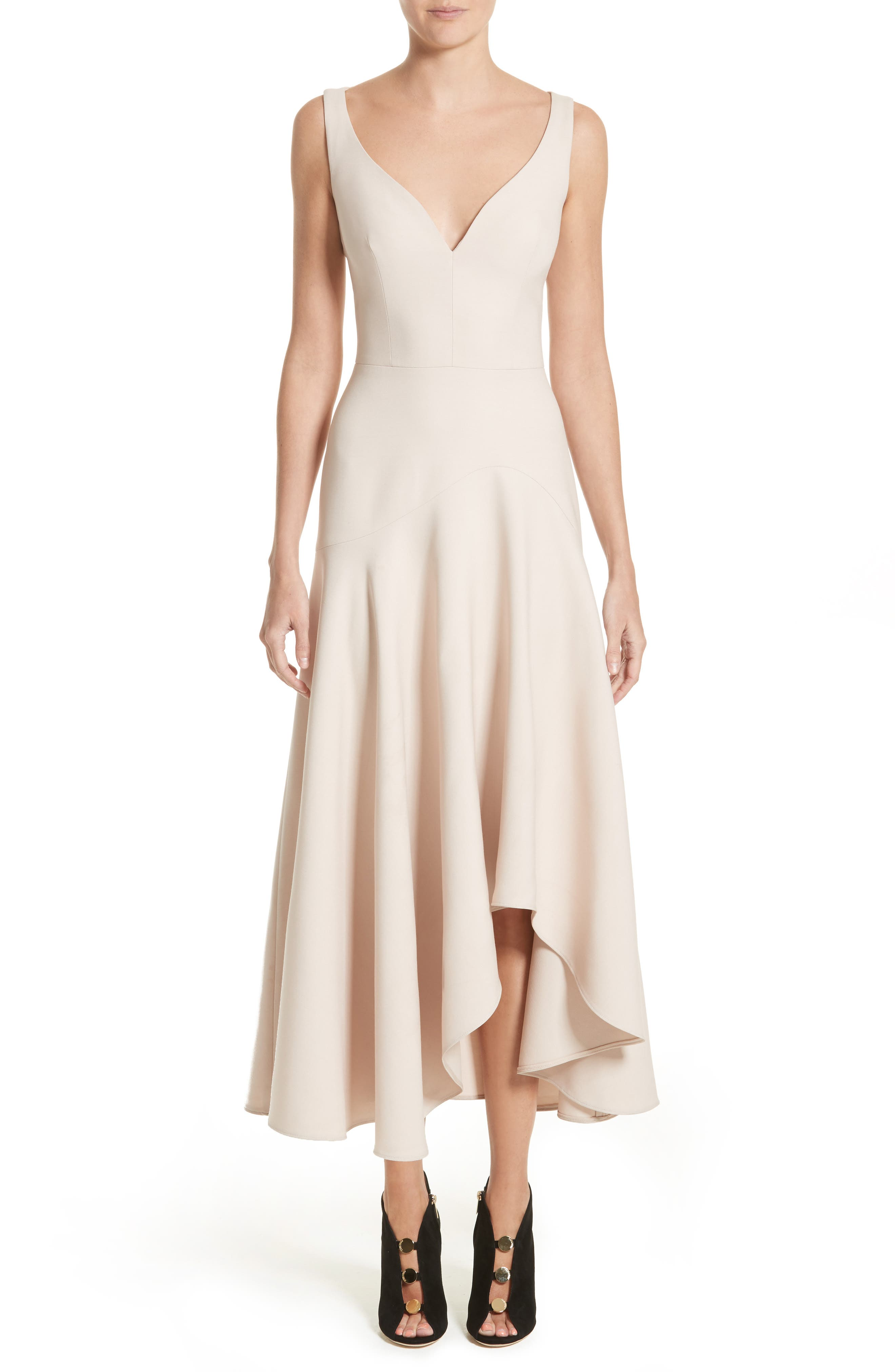 Silk Asymmetrical Dress,                         Main,                         color, Marble