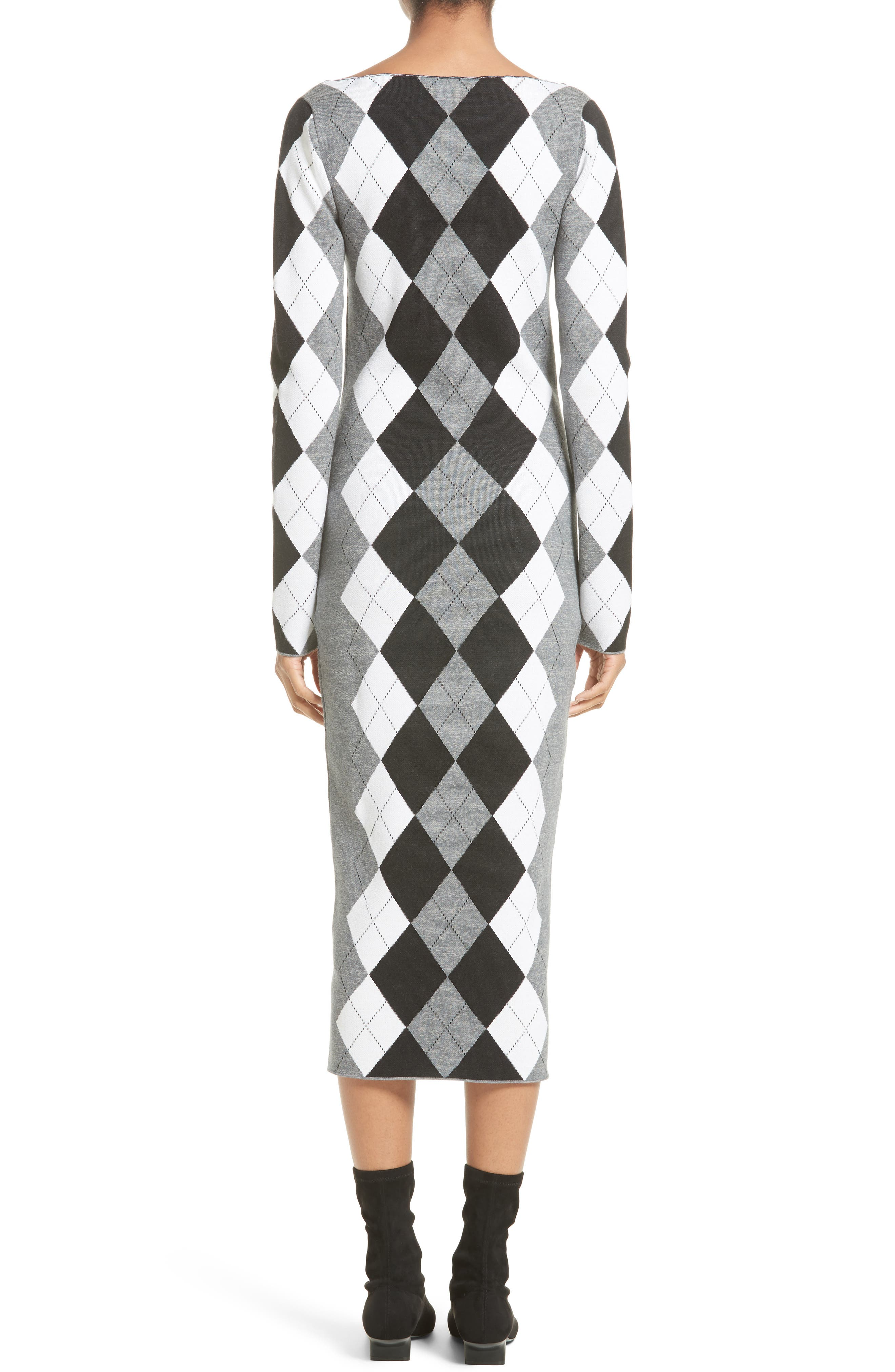 Alternate Image 2  - Stella McCartney Argyle Sweater Dress