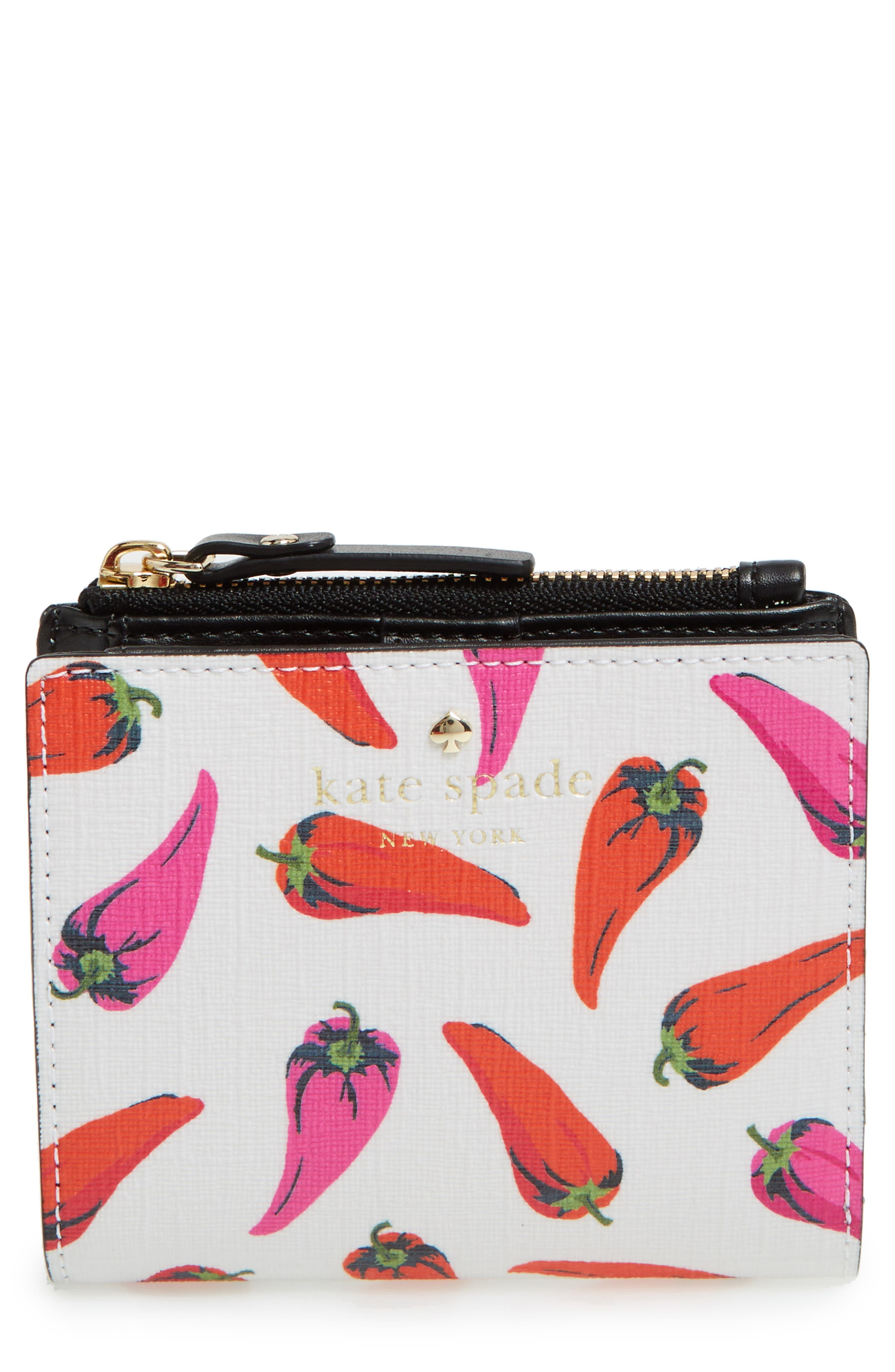 KATE SPADE NEW YORK adalyn hot pepper faux leather wallet