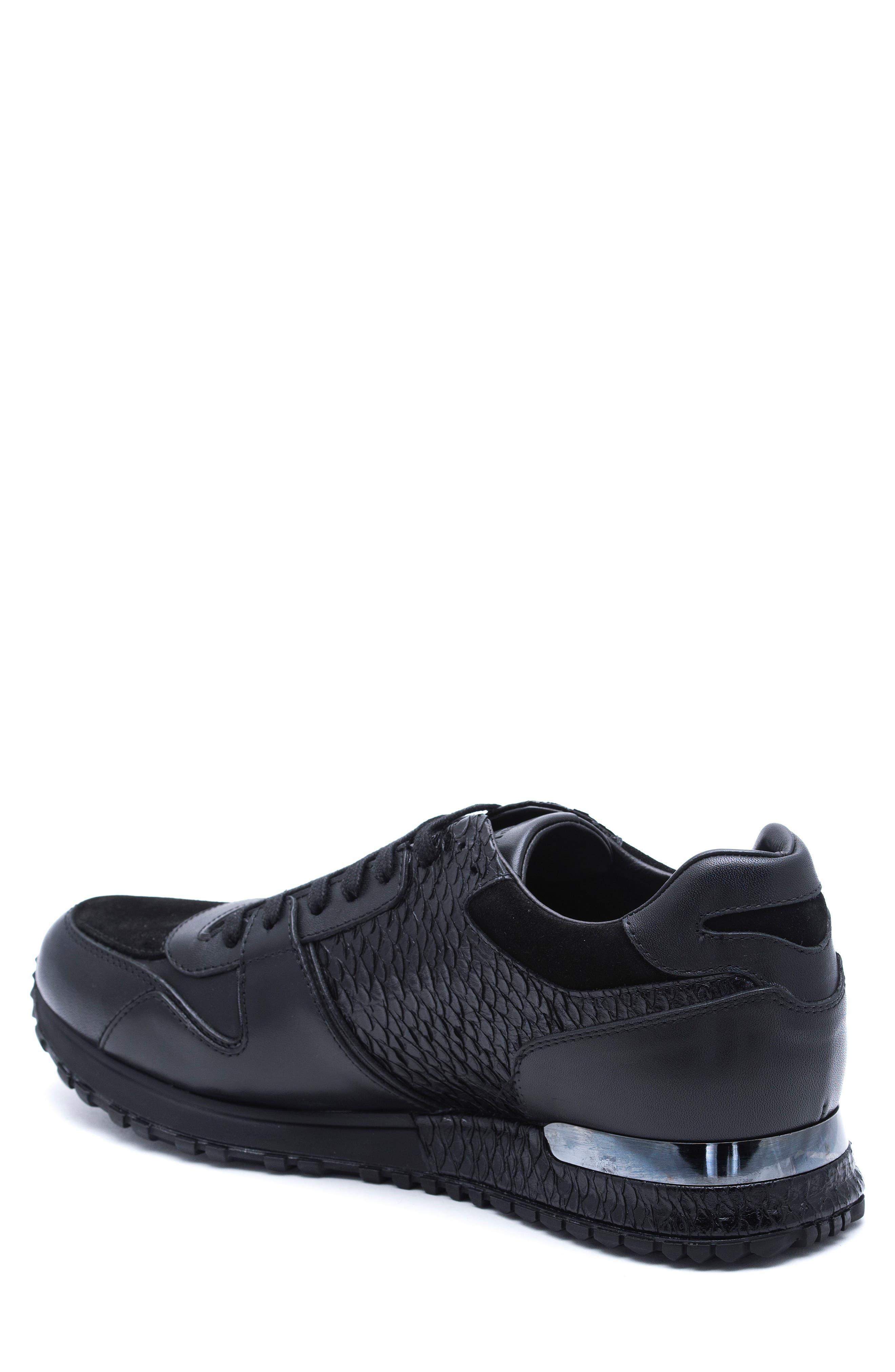 Textured Sneaker,                             Alternate thumbnail 2, color,                             Black
